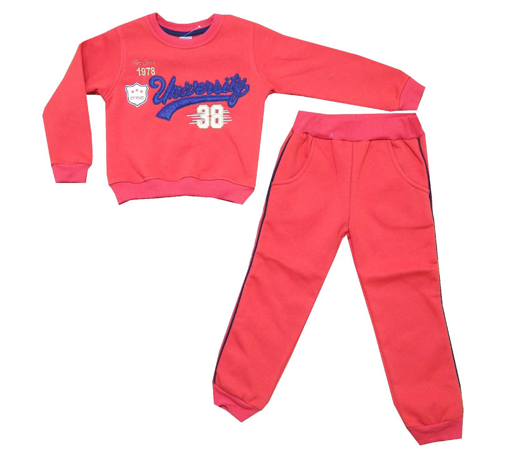 Wholesale ''university 38'' printed tracksuit for boy (5-6-7-8 age)
