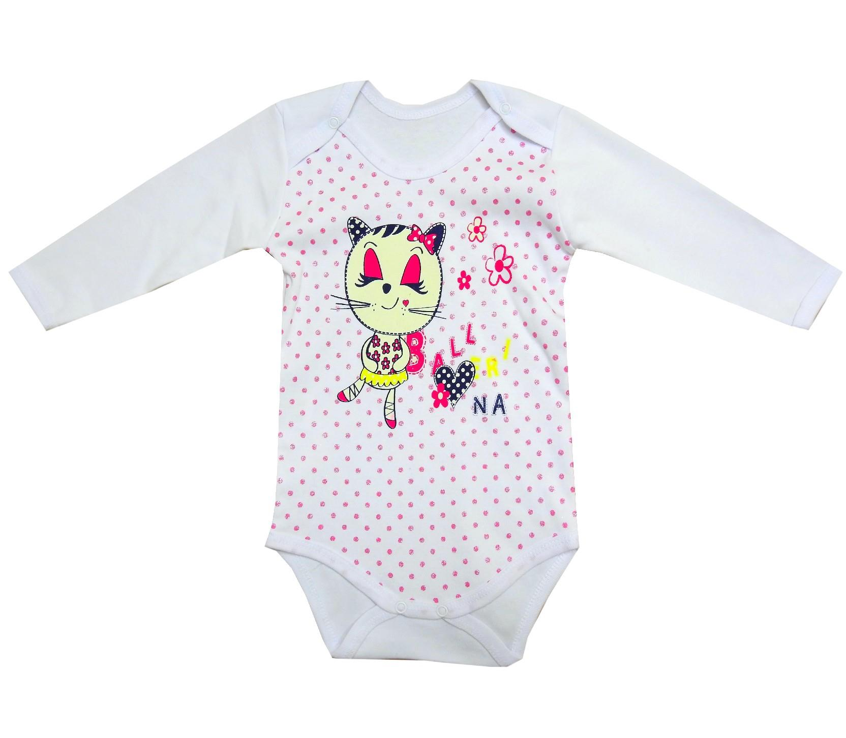 842-4 wholesale cat print bodysuit for girl (3-6-9-12 month)