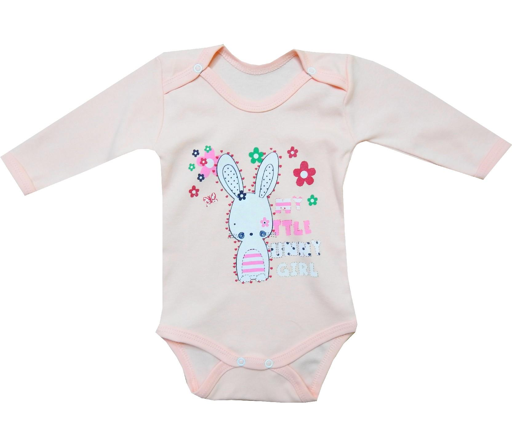 Wholesale little bunny print bodysuit for girl (3-6-9-12 month)
