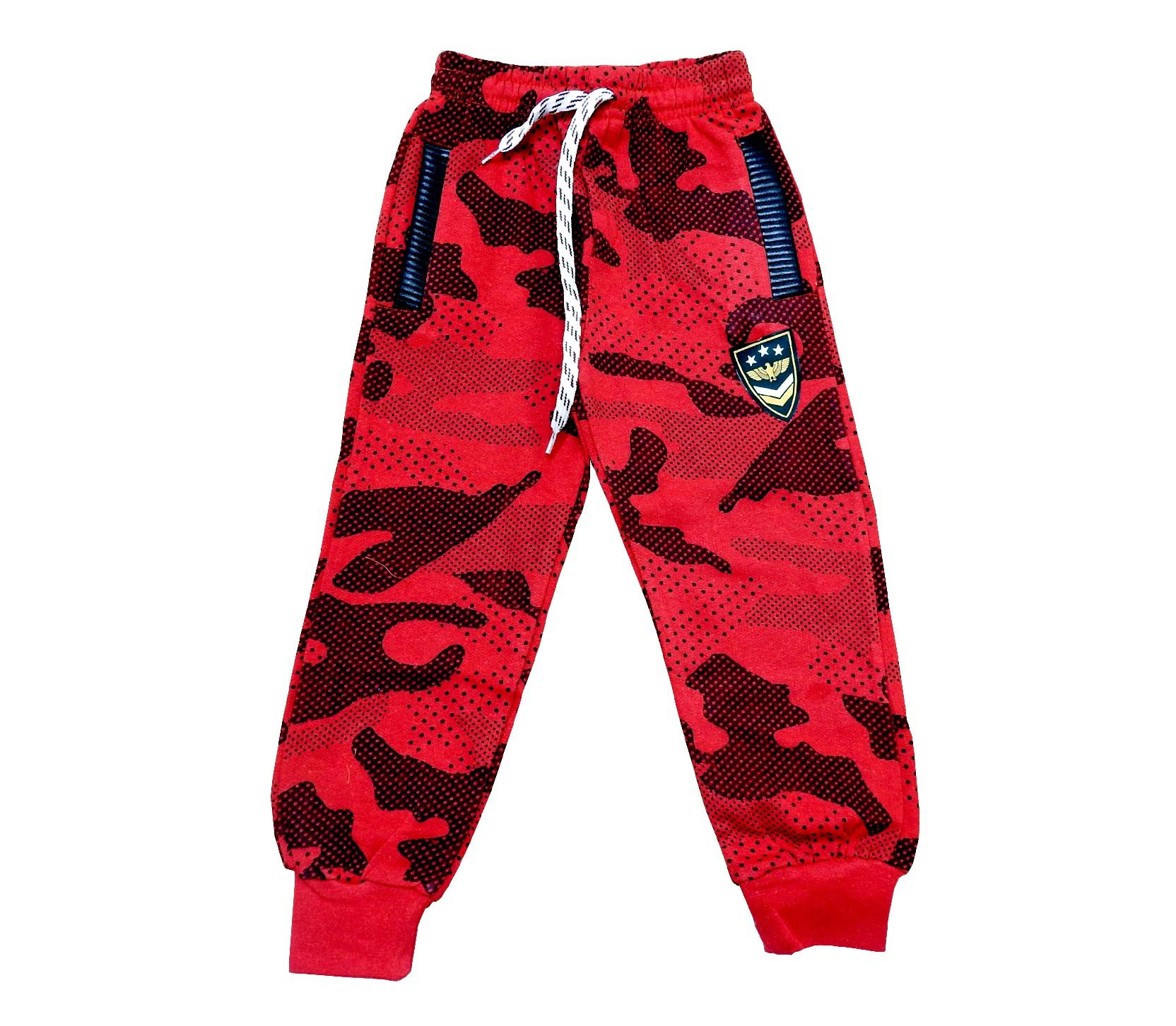 Wholesale camouflage embroidery three-ply single pant for kids (6-7-8-9 age)