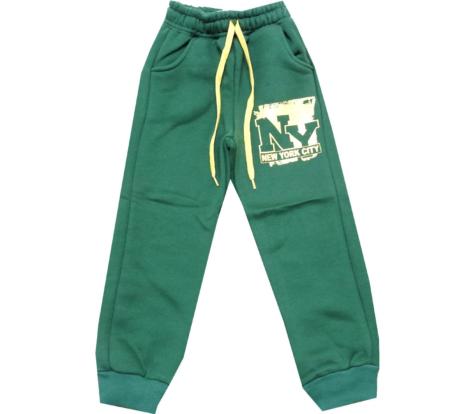 Wholesale NY print three-ply single pant for boy (5-6-7-8 age)