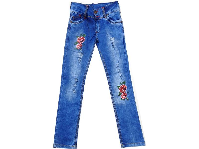 3215 3216 Wholesale flower printed jeans for girl (8-9-10-11-12 age)