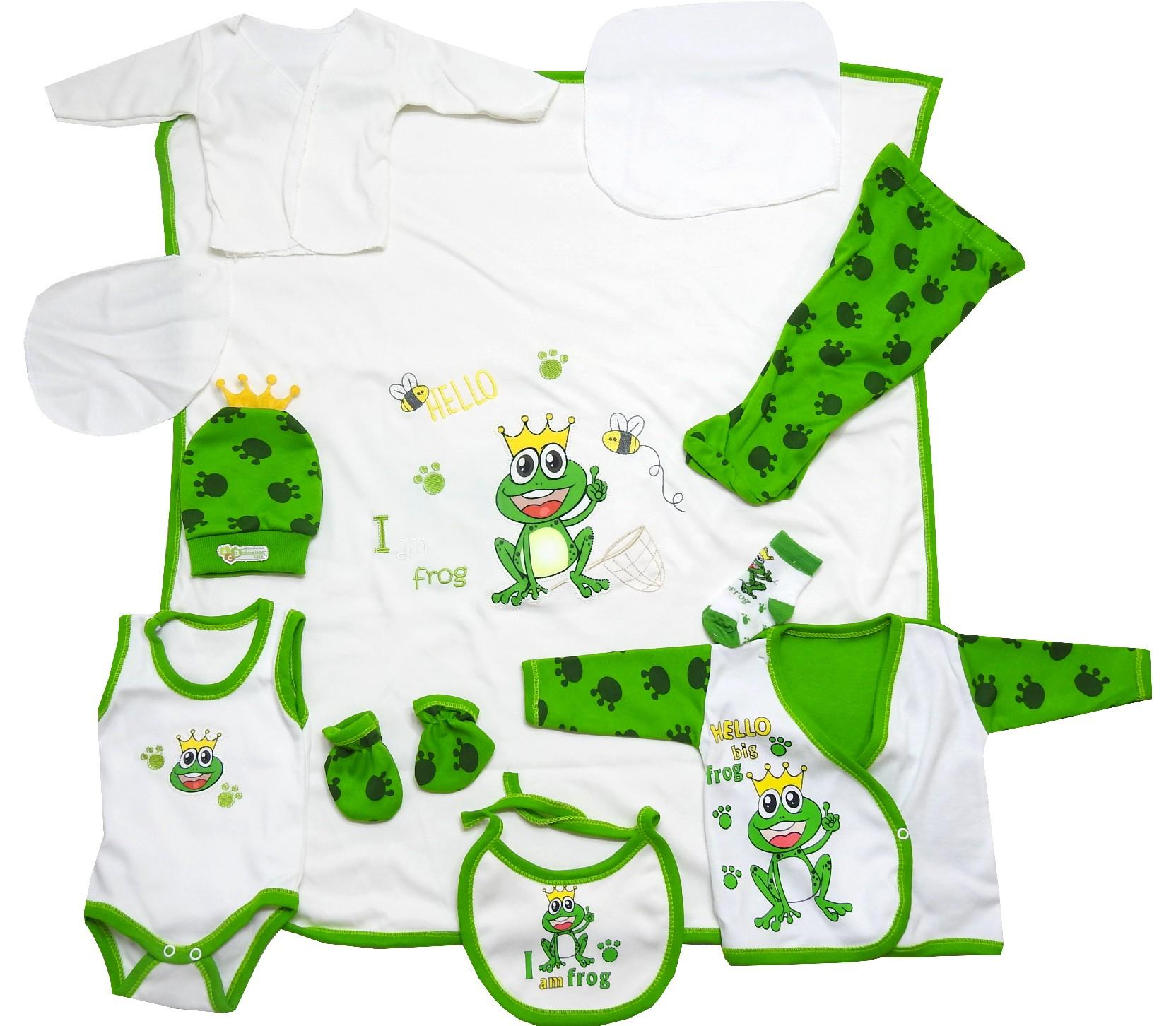 128 Wholesale printed design baby newborn set 11 pieces in package