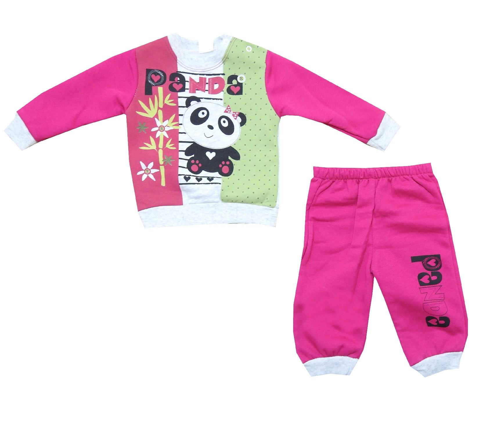 600 wholesale ''panda'' printed three-ply tracksuit for girl (9-12-18 month)