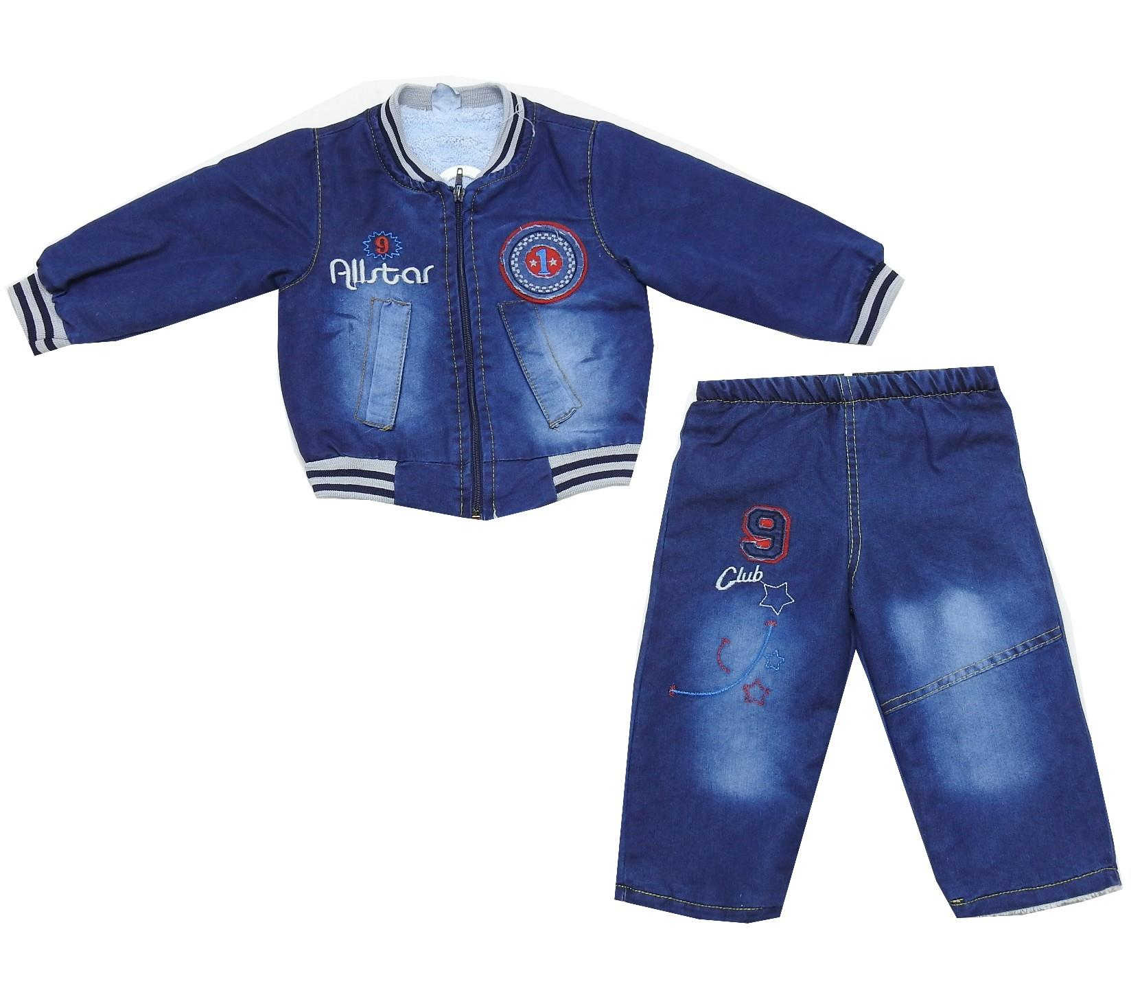 Wholesale speed print jeans jacket and pant double set for boy (2-3-4-5 age)