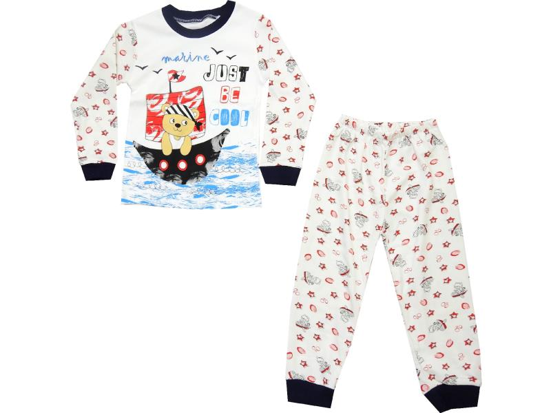 2004 wholesale bear printed pyjama suit set for boy (4-5-6 age)