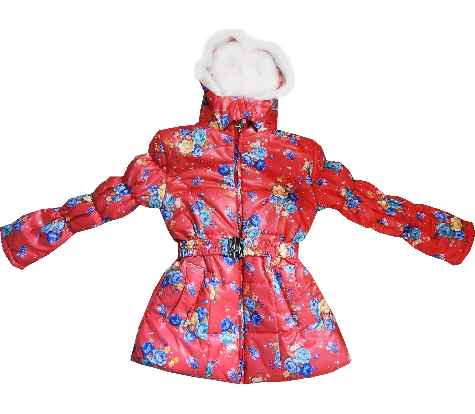 Wholesale quality flowery hooded coat for girl (6-7-8-9 age)