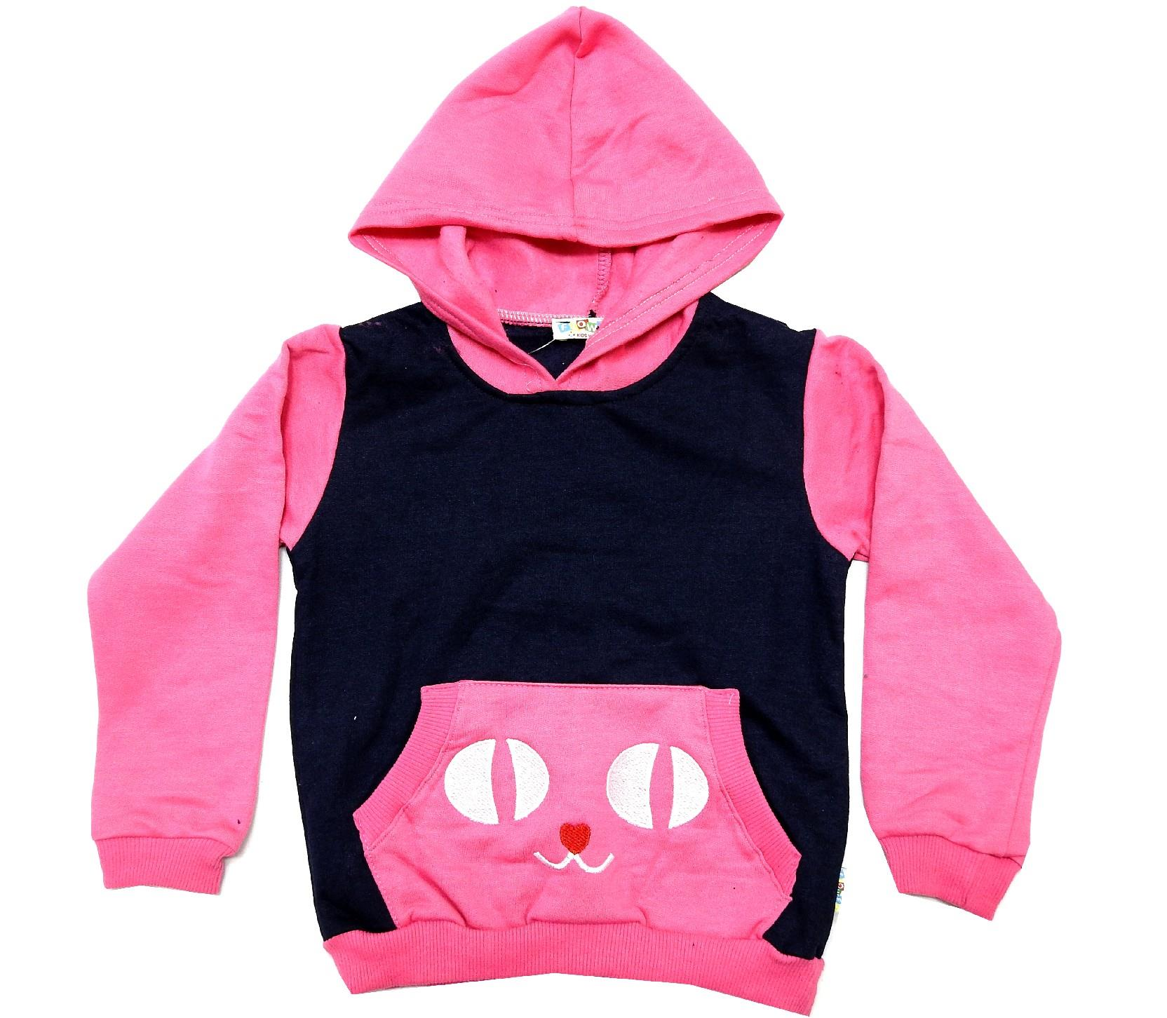 Wholesale cat print hooded sweatshirt for girl (2-3-4-5 age)