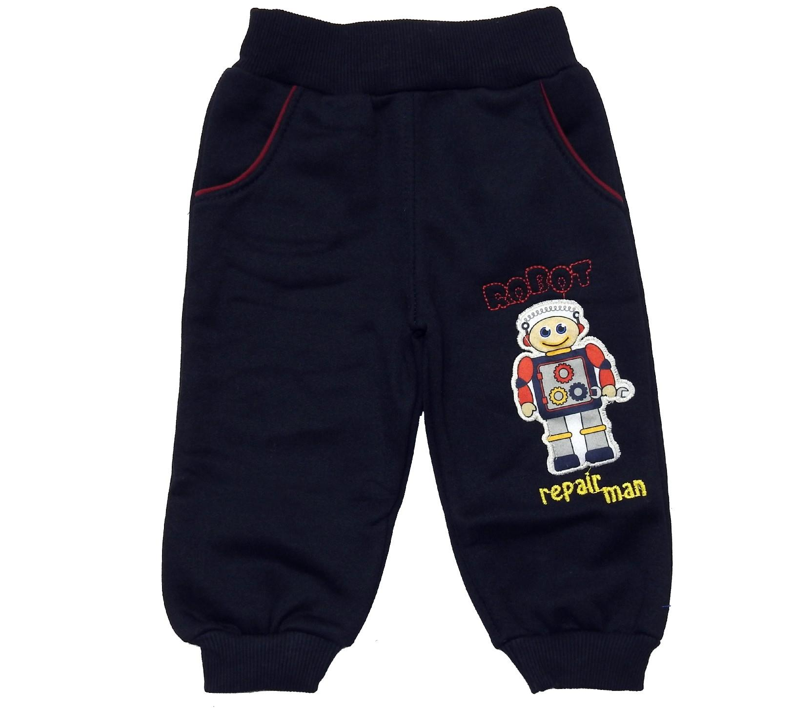 Wholesale ''robot'' printed three-ply single pant for boy (1-2-3-4 age)