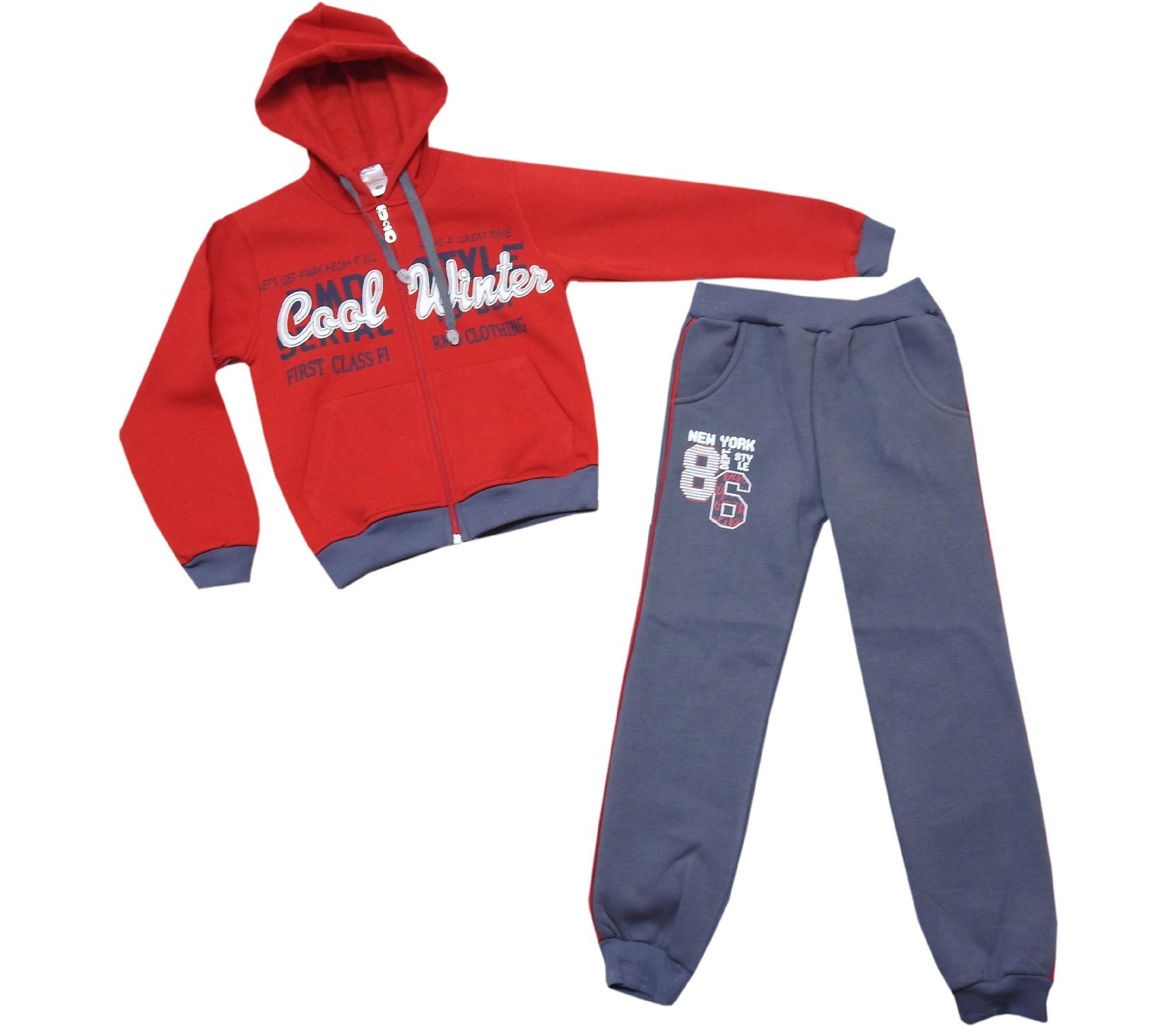 869 wholesale cool winter printed tracksuit for kids (9-10-11-12 age)