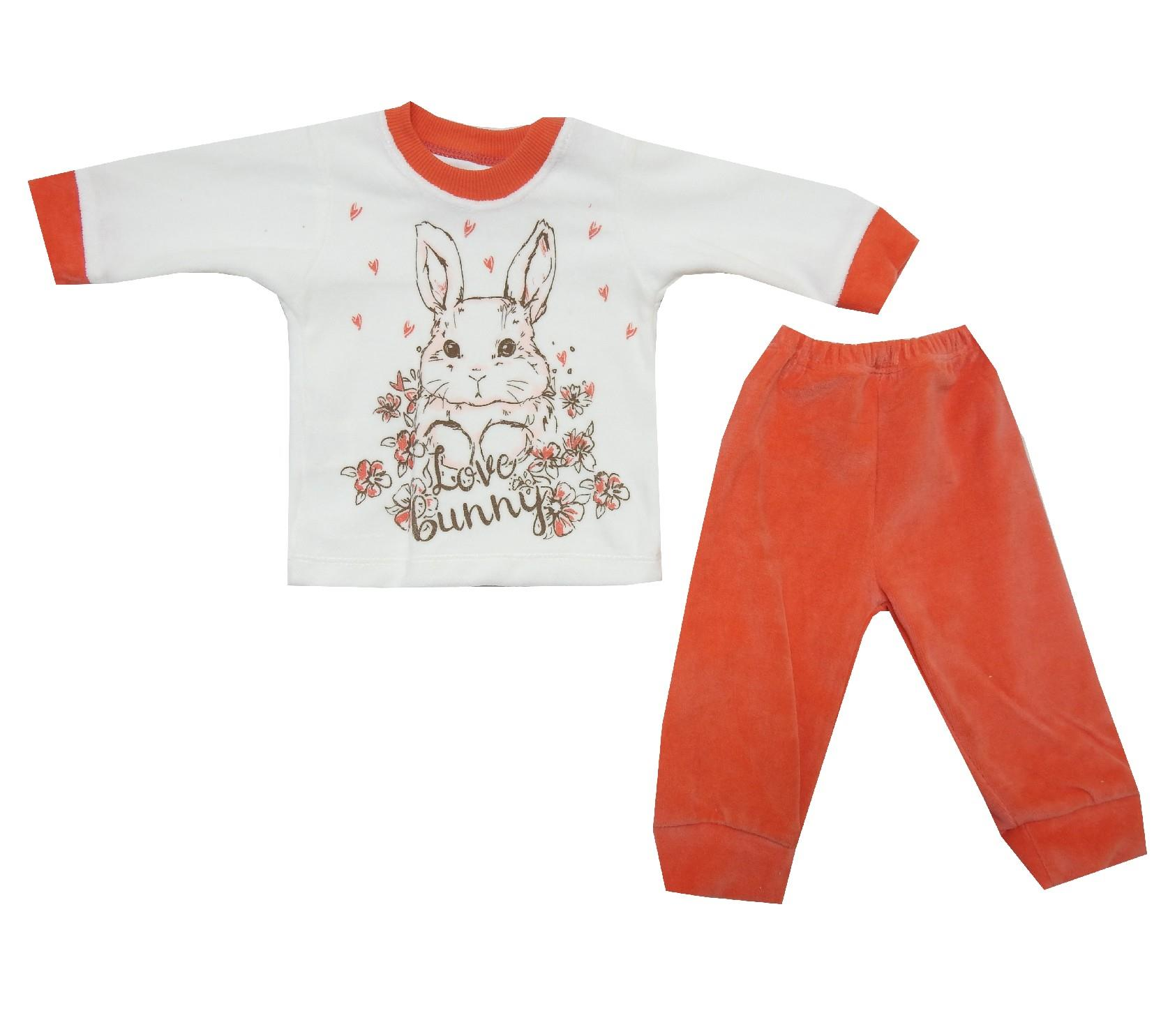 Wholesale bunny print tracksuit for girl (6-9-12 month)