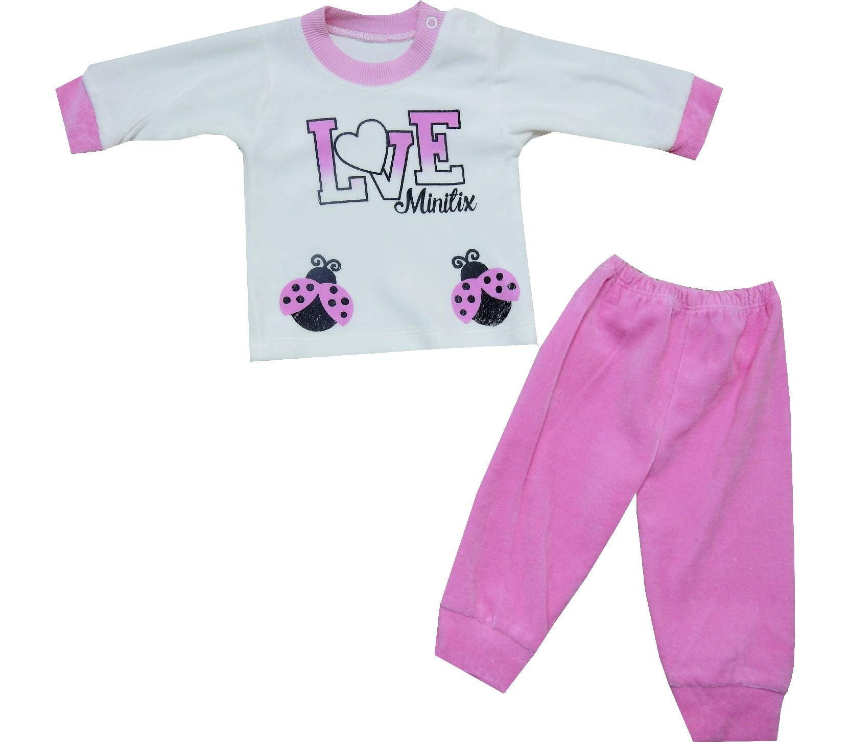 1772 Wholesale love print tacksuit for girl (6-9-12 month)