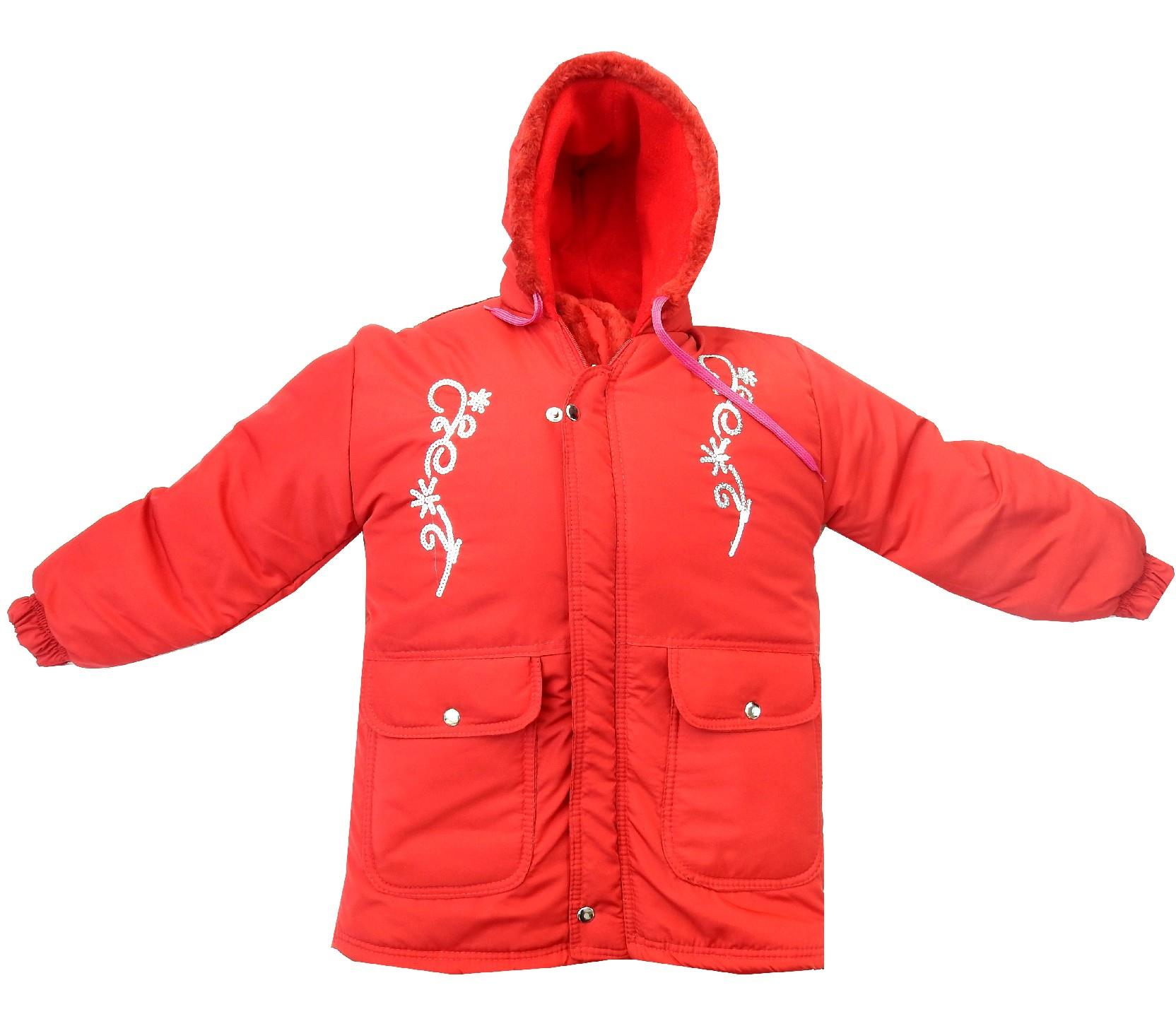 Wholesale flower embroidery hooded coat for girl (5-6-7-8 age)