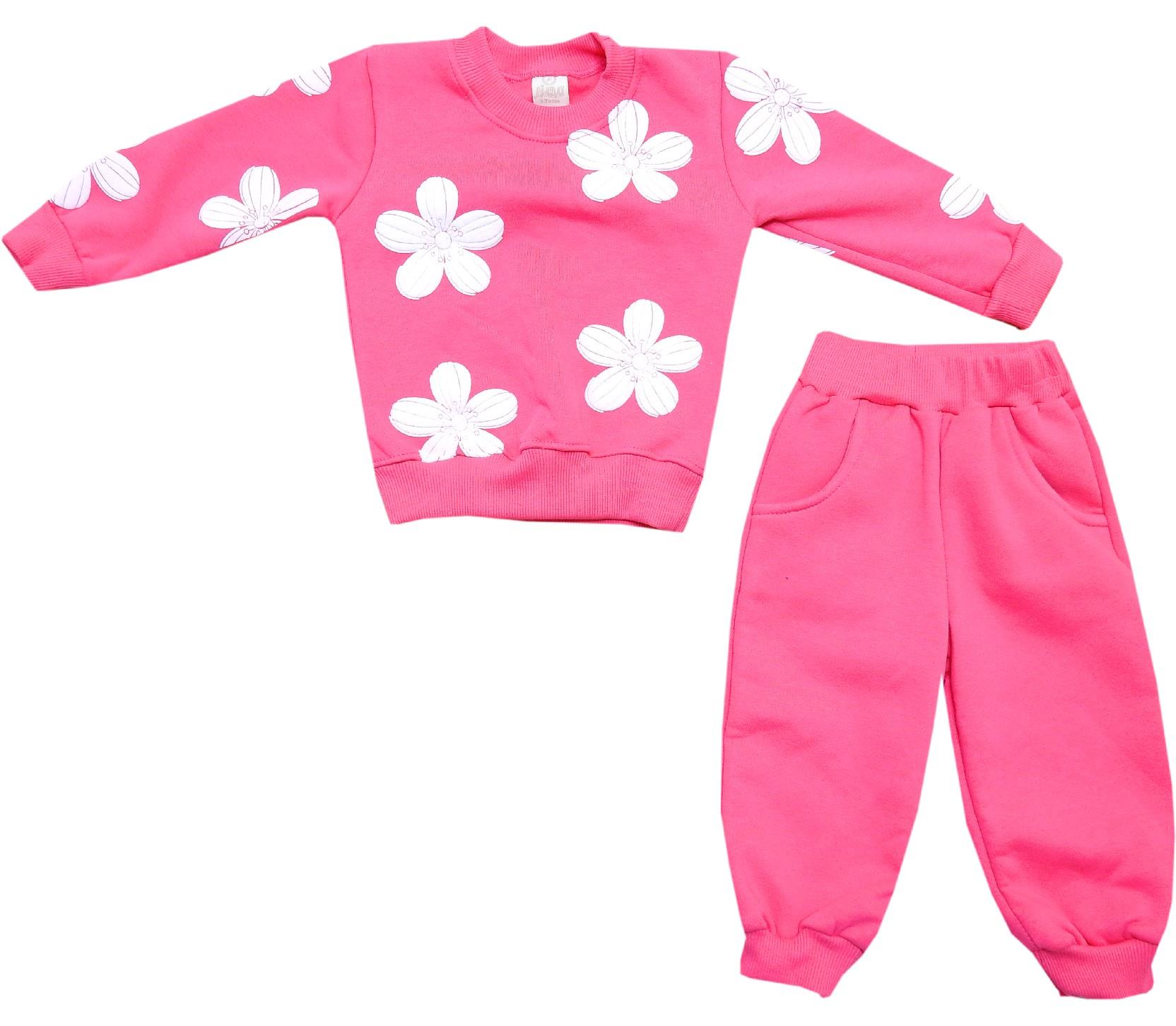 274 wholesale flower embroidery tracksuit for girl (1-2-3 age)