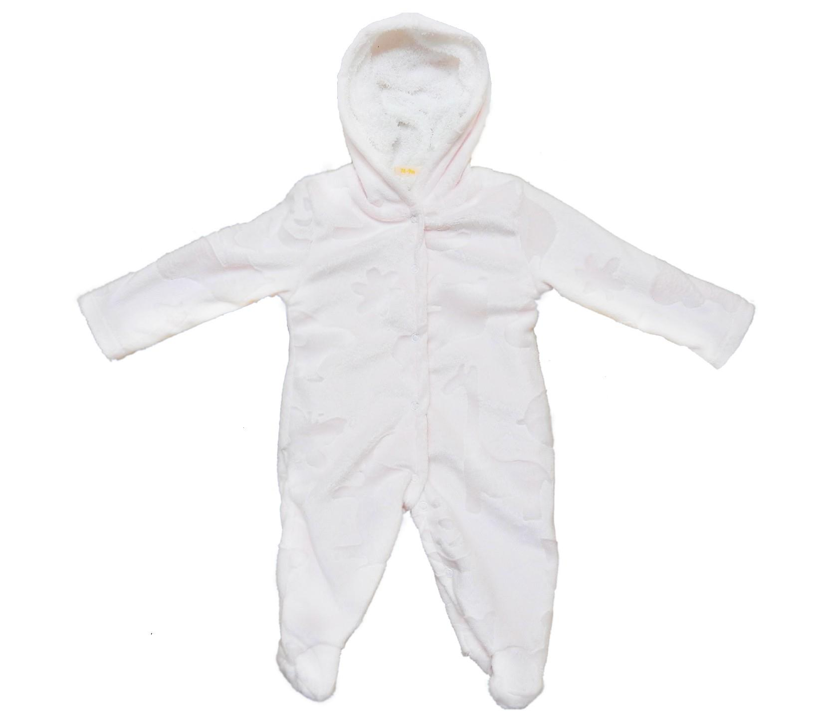14589 wholesale faux shearling hooded romper for baby (9-12-18 month)