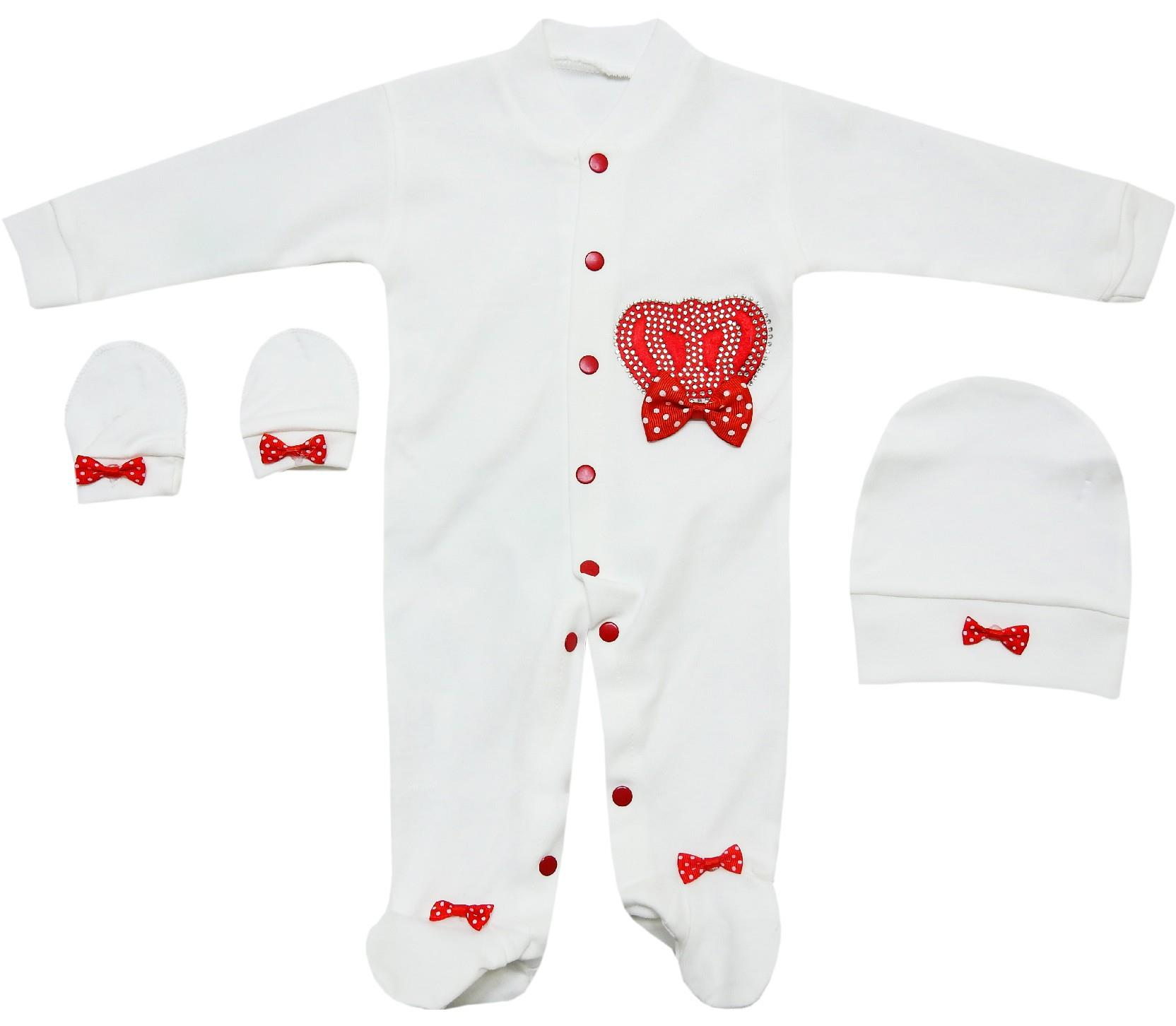 345 wholesale tiar applique romper with beanie for baby girl (0-3-6 month)
