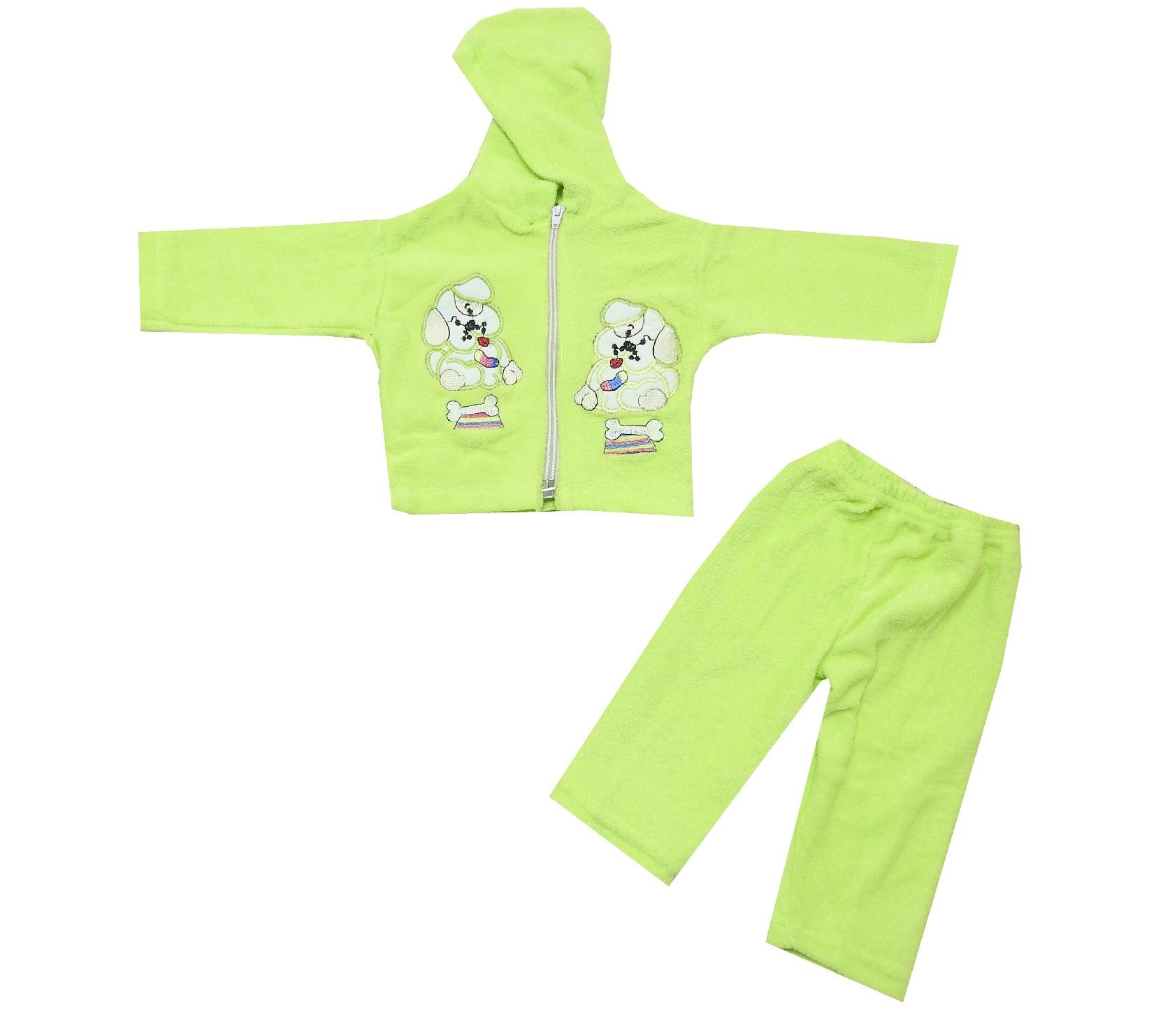 78485 wholesale printed hooded faux shearling jacket and trouser for baby (0-3 month)