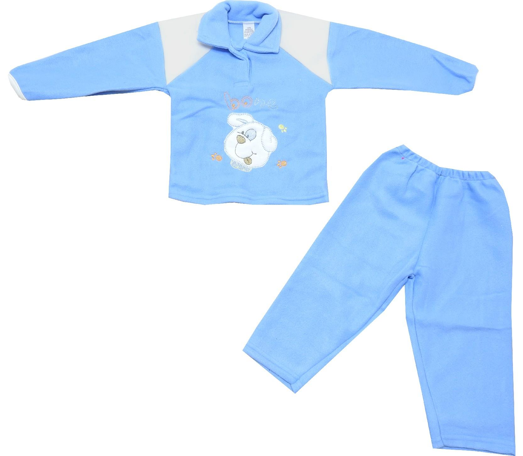 56977 wholesale dog face print sweat and trouser for baby (3-6 month)
