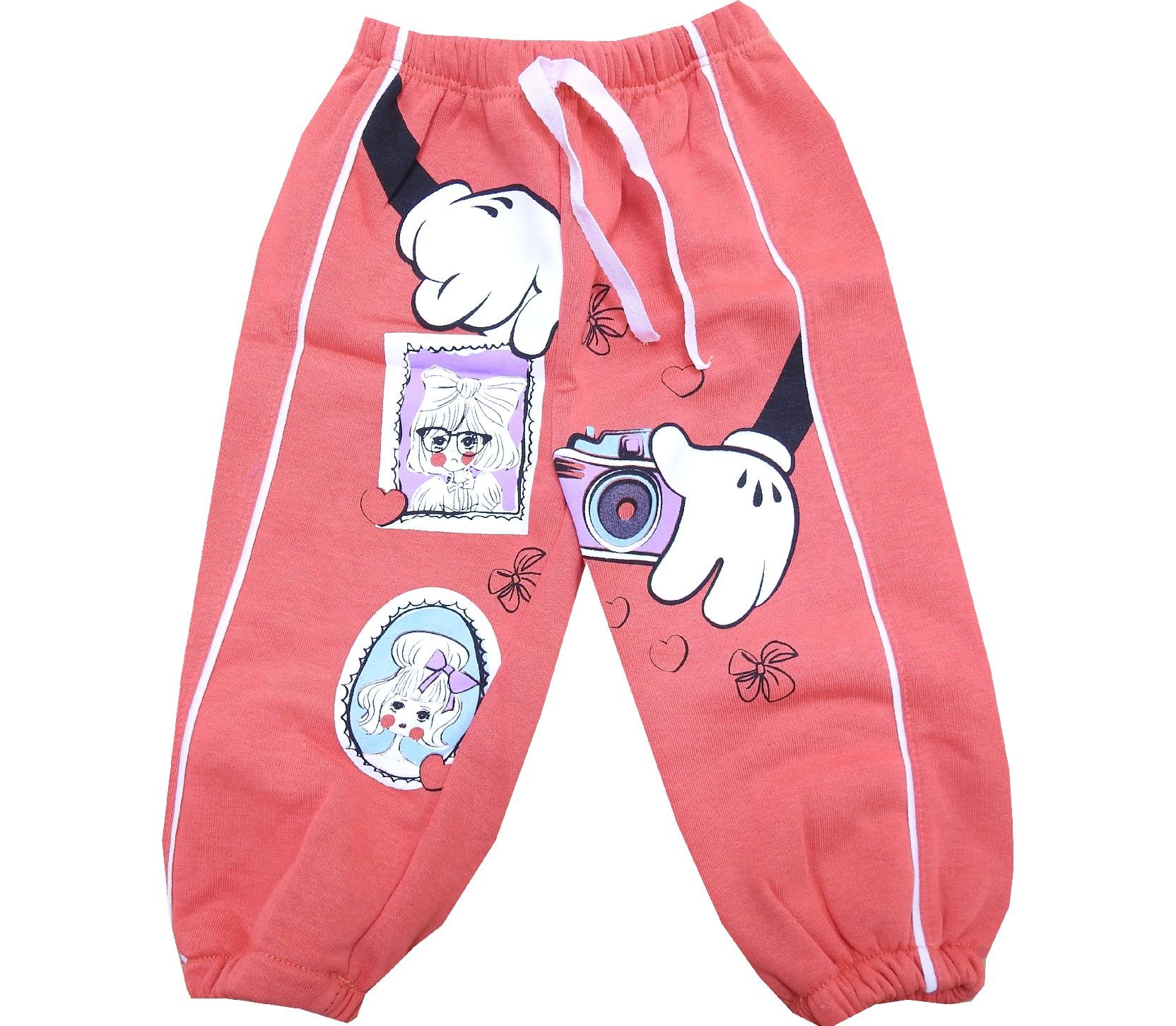 Wholesale photo print trouser for girl (1-2-3 age)