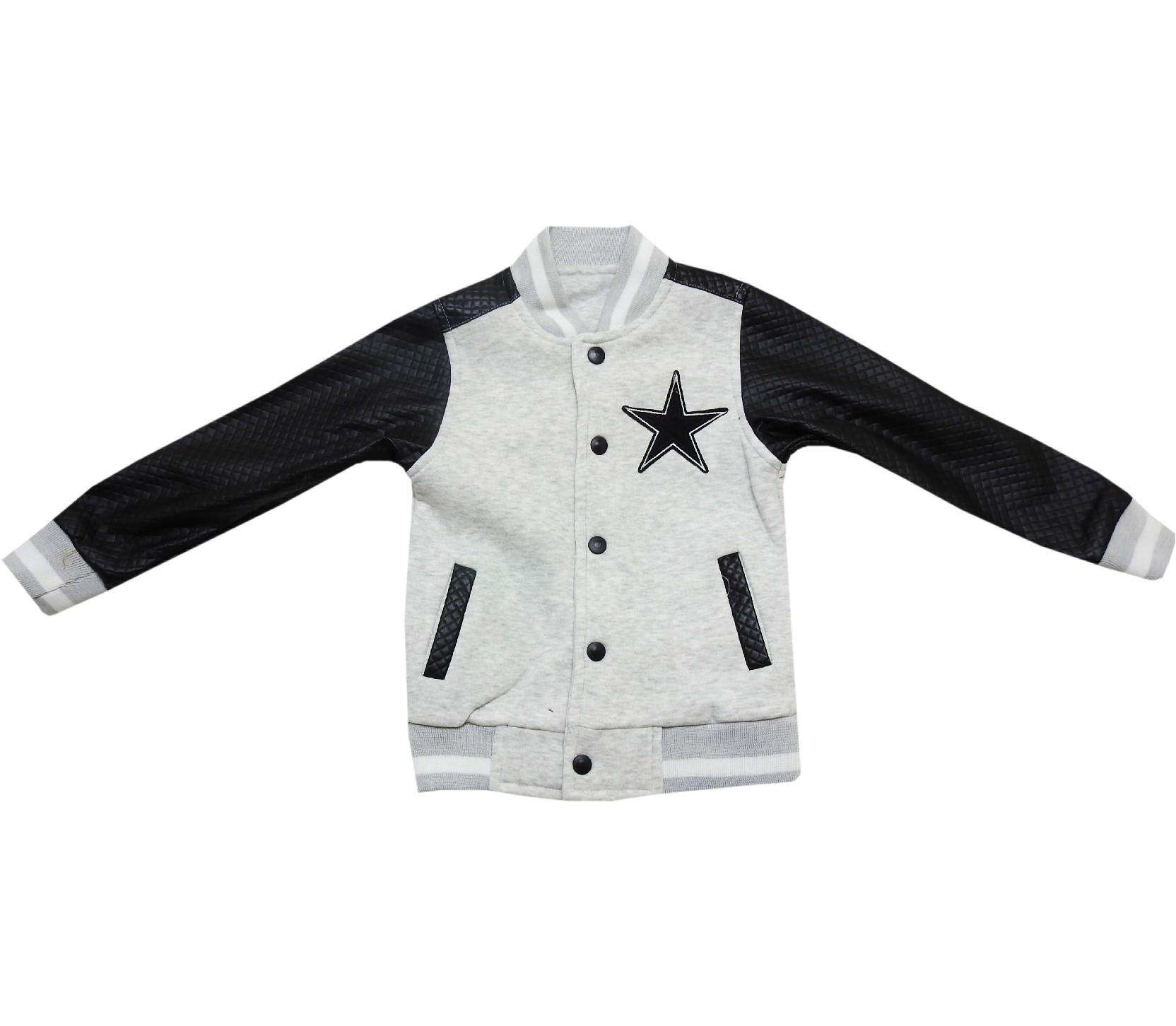 6064 wholesale star amblem print jacket for boy (5-6-7-8 age)