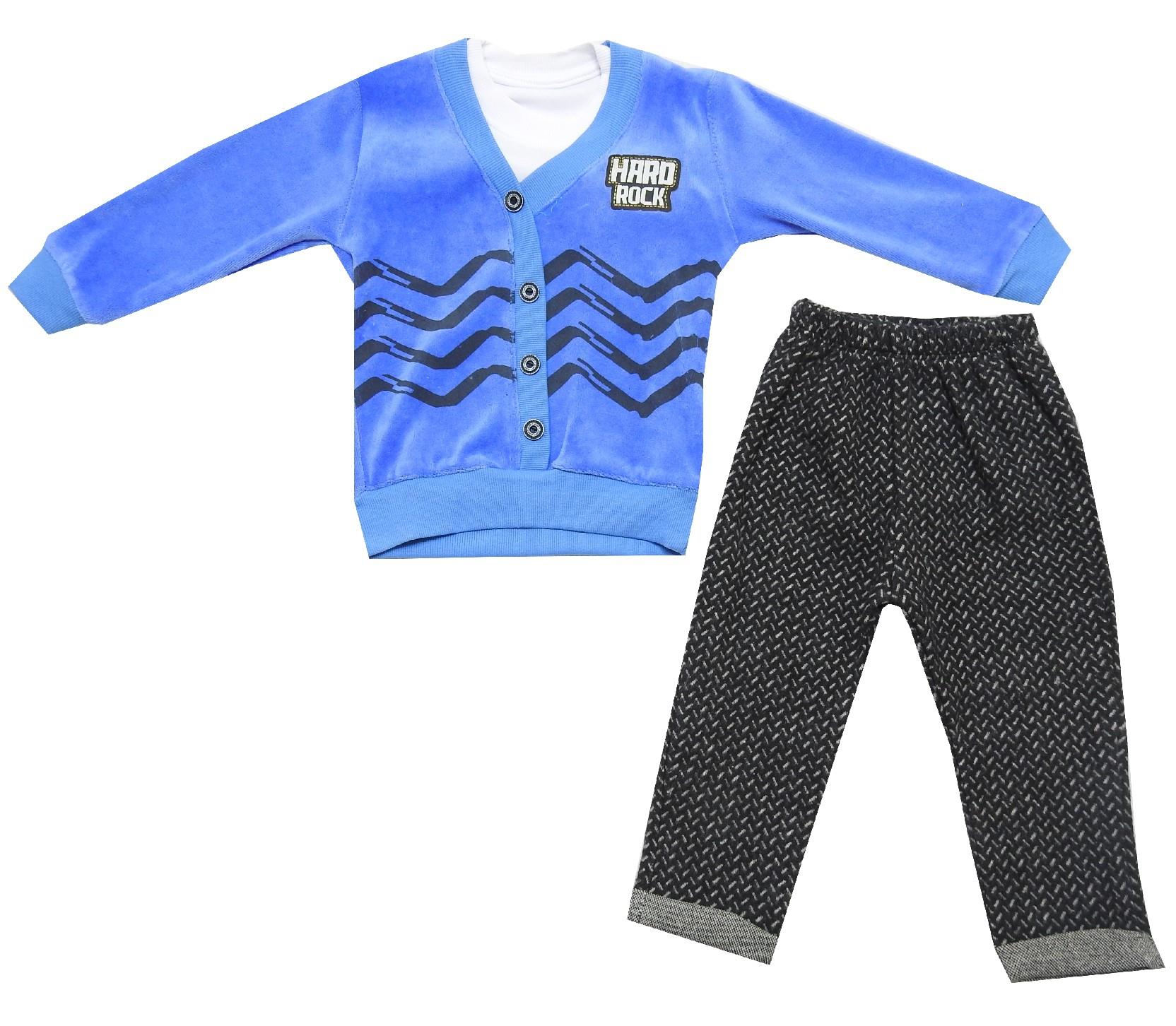 5091 Wholesale velvet sweat and trouser double set for boy (6-12-18-24 month)