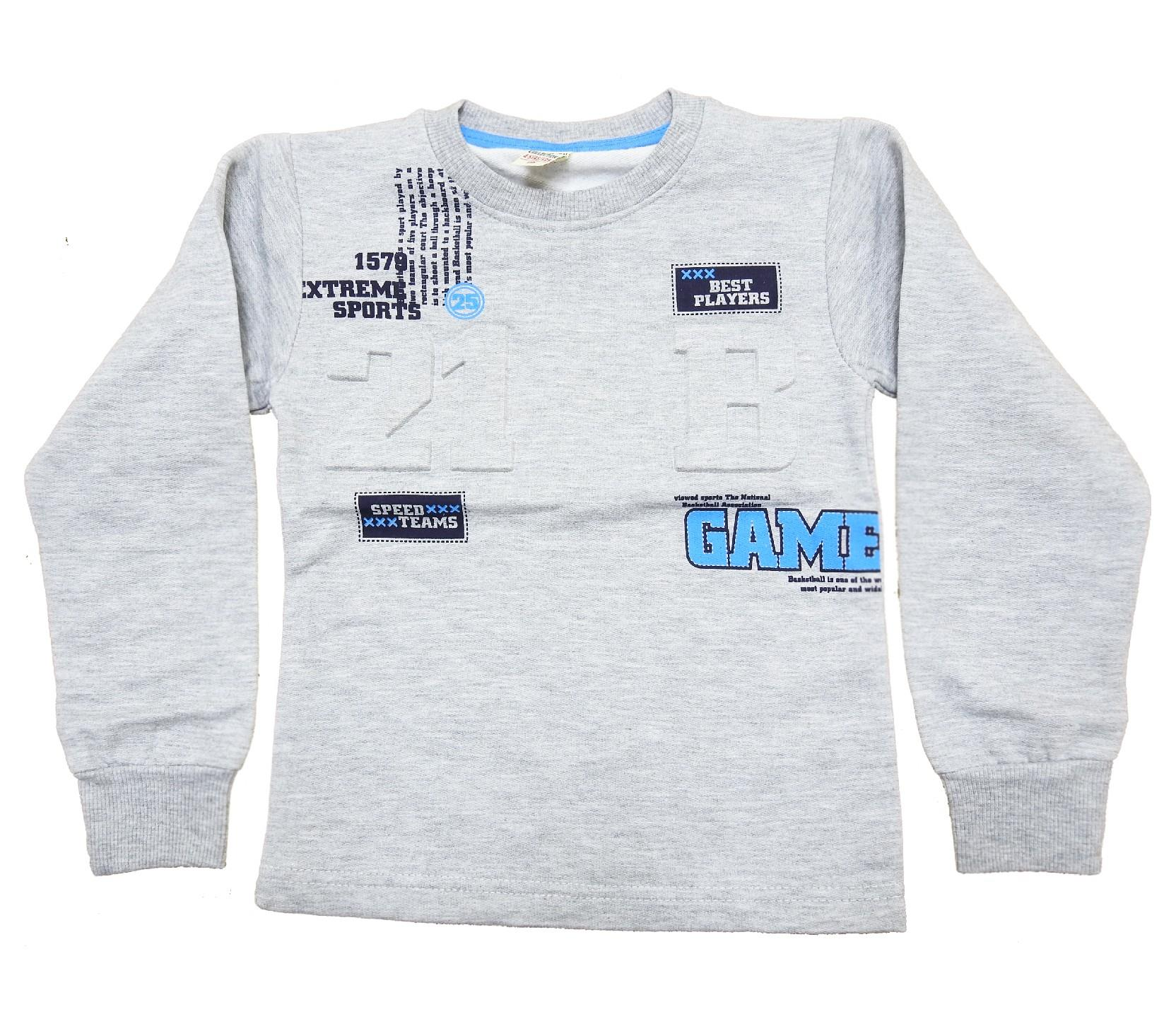 Wholesale ''GAME'' print sweat for boy (5-6-7-8-9 age)
