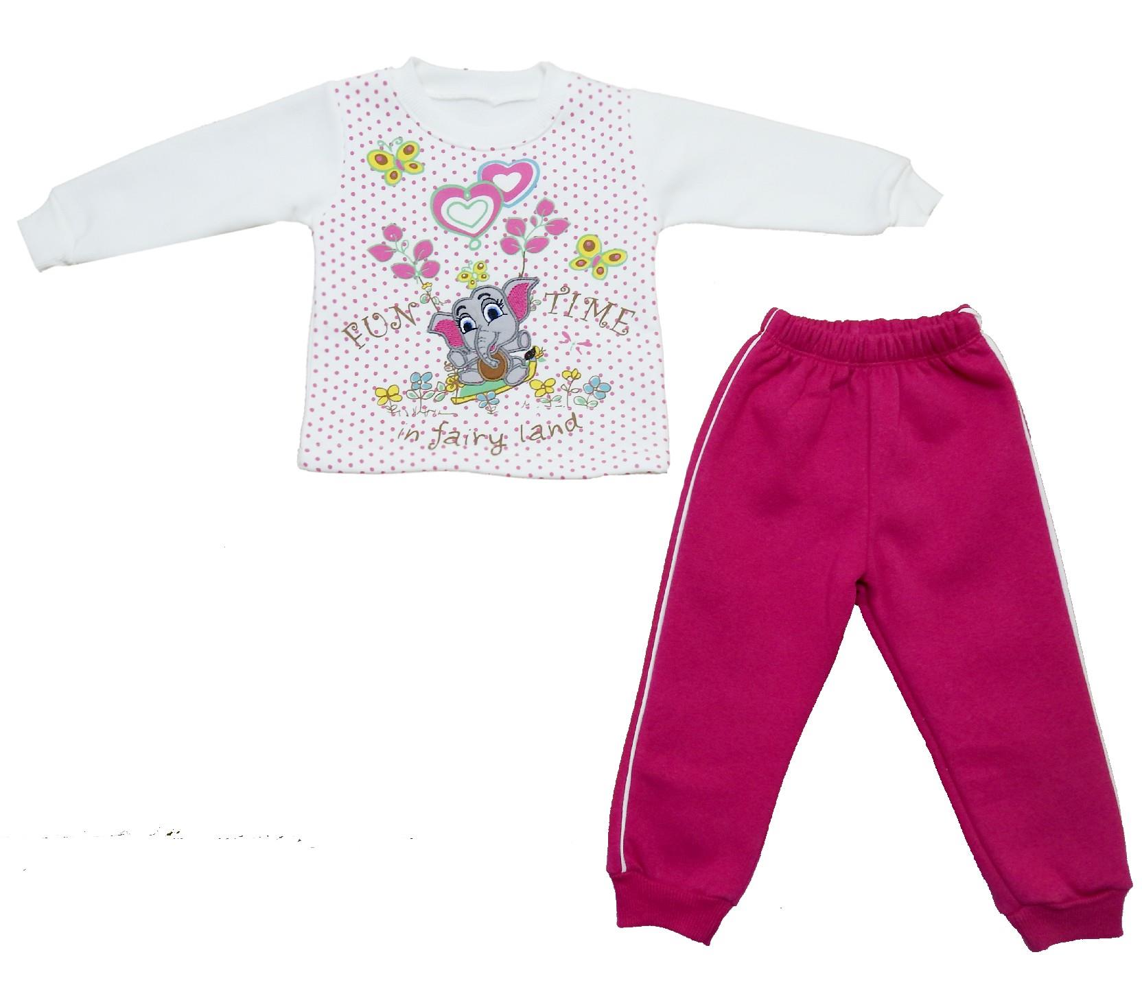 Wholesale elephant print tracksuit for girl (1-1.5-2-3-4 age)