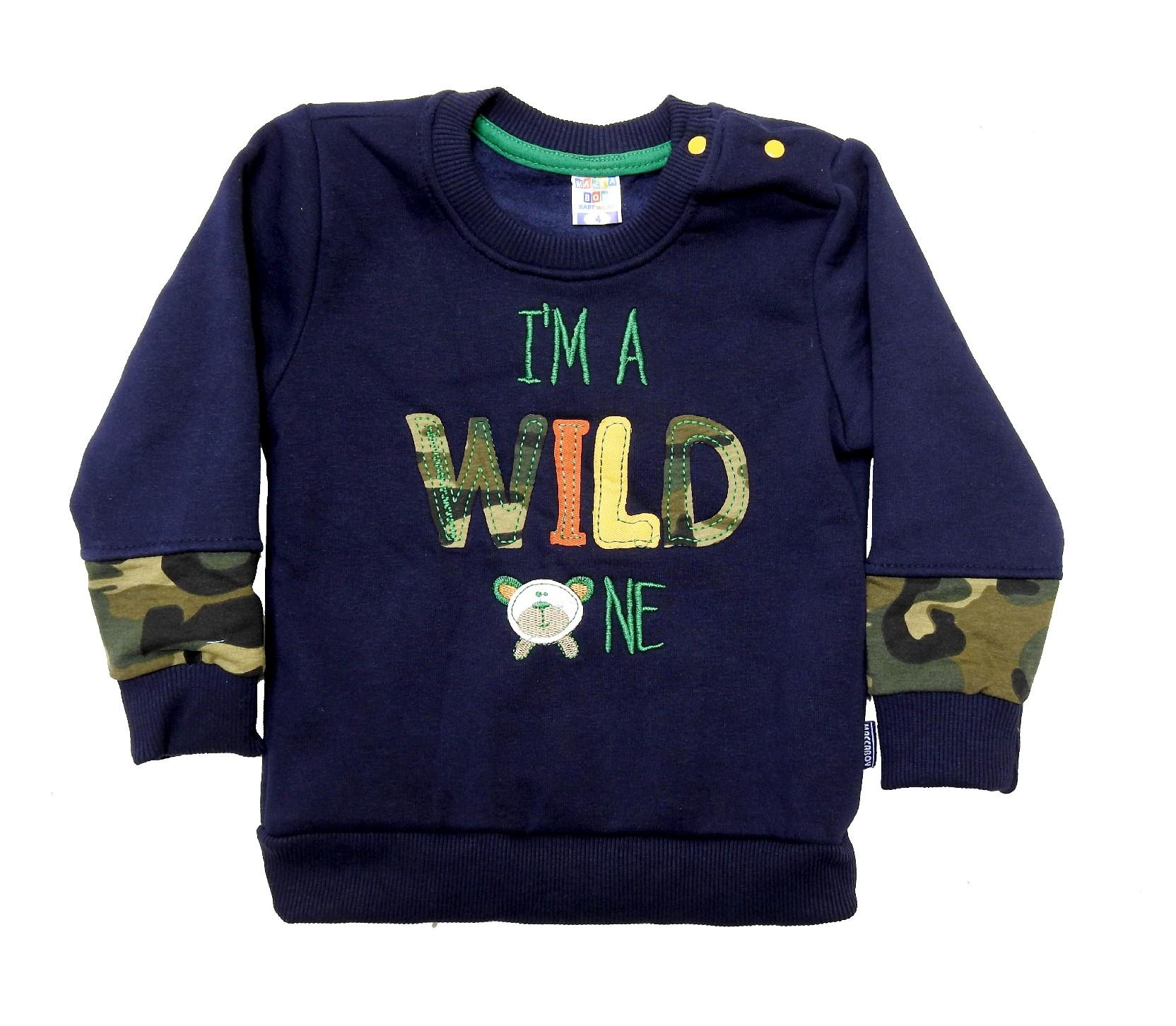 Wholesale ''WILD'' printed sweat for boy (1-2-3-4 age)