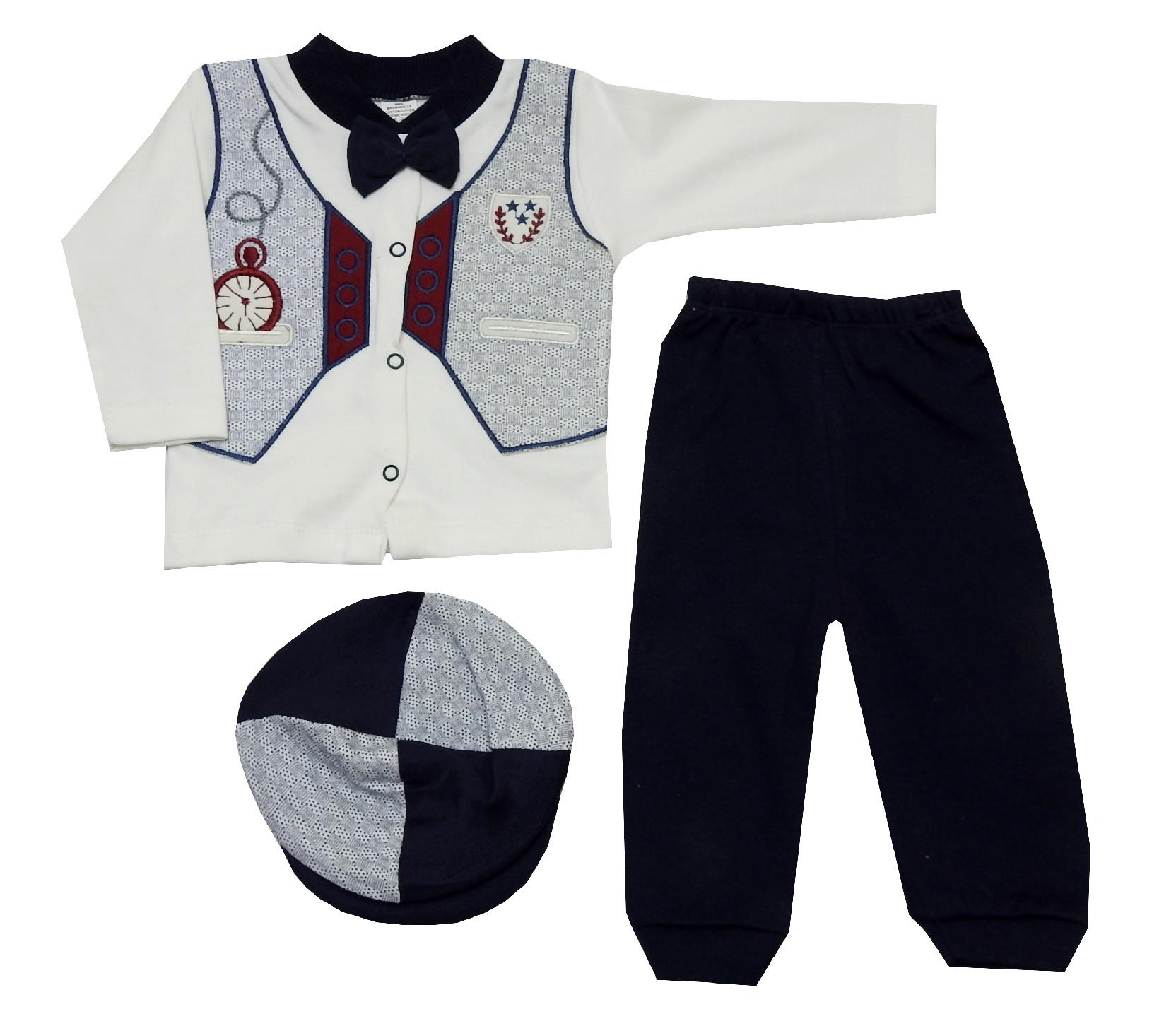 352 Wholesale sweat, trouser with beanie suit set for boy (3-6 month)