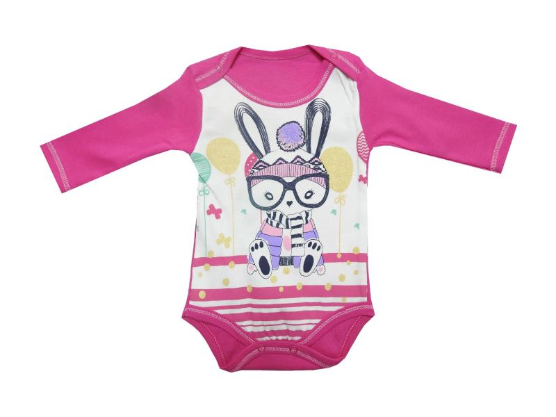 4604 wholesale cat printed snap fastening bodysuit for girl (3-6-9-12 month)