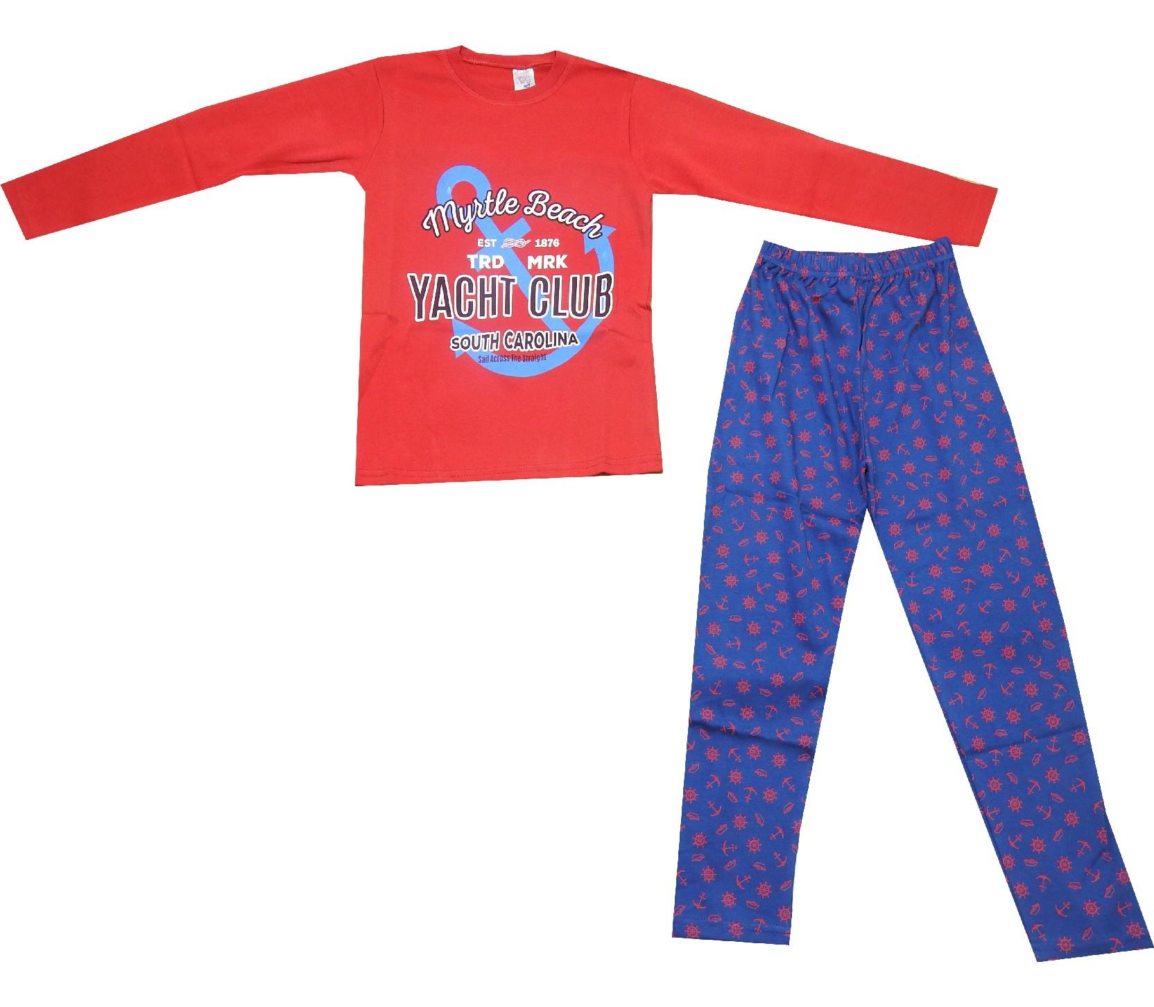 5148 Wholesale yacht club printed pyjama for children (10-11-12 age)