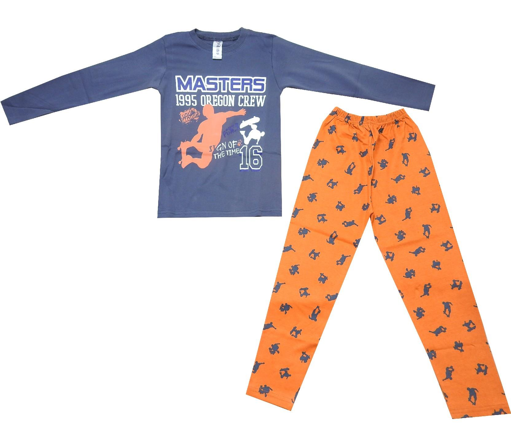 5128 Wholesale masters print pyjama for boy (10-11-12 age)