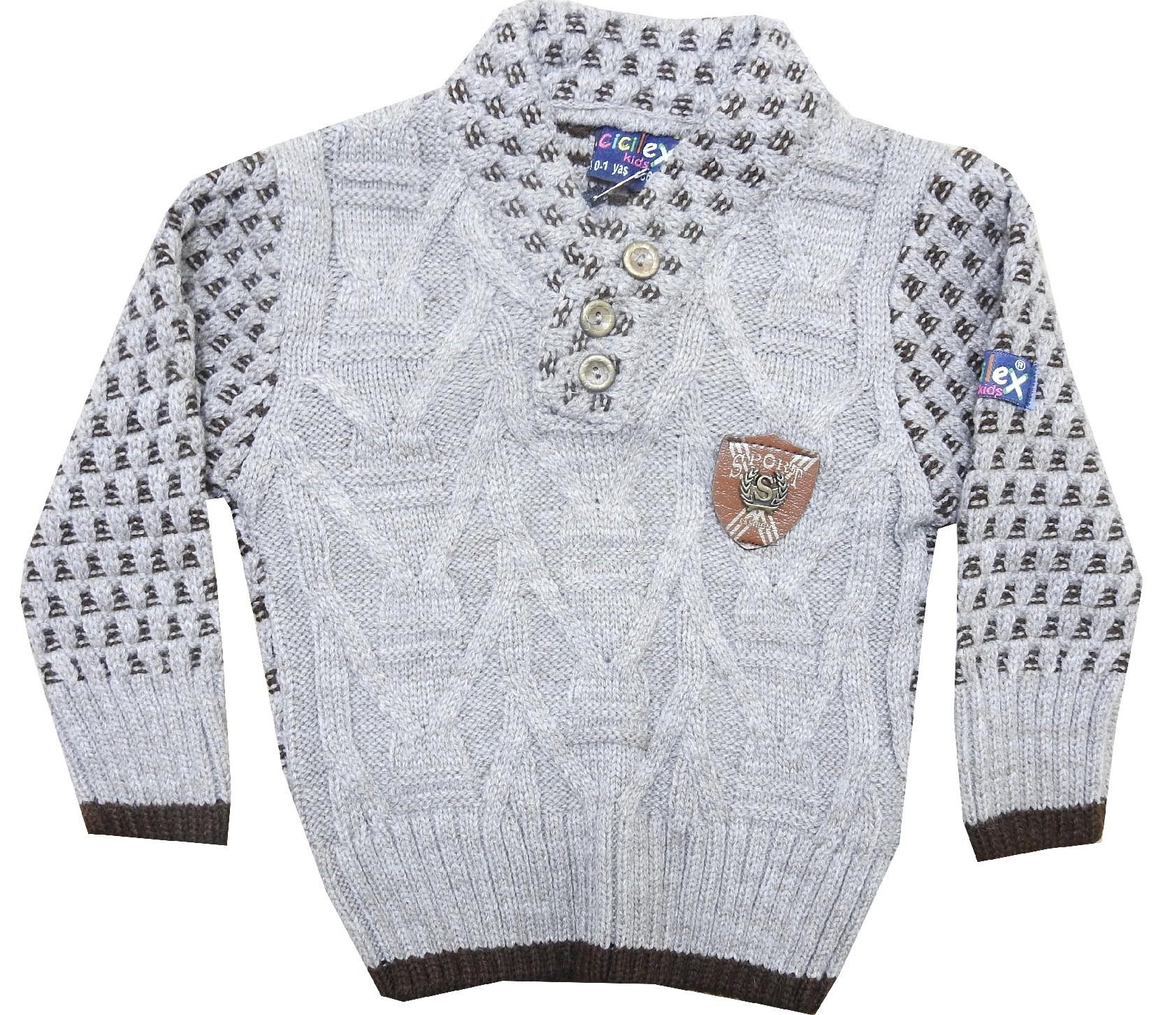 1243 Wholesale knitted sweater for boys (1-2-3-4 age)