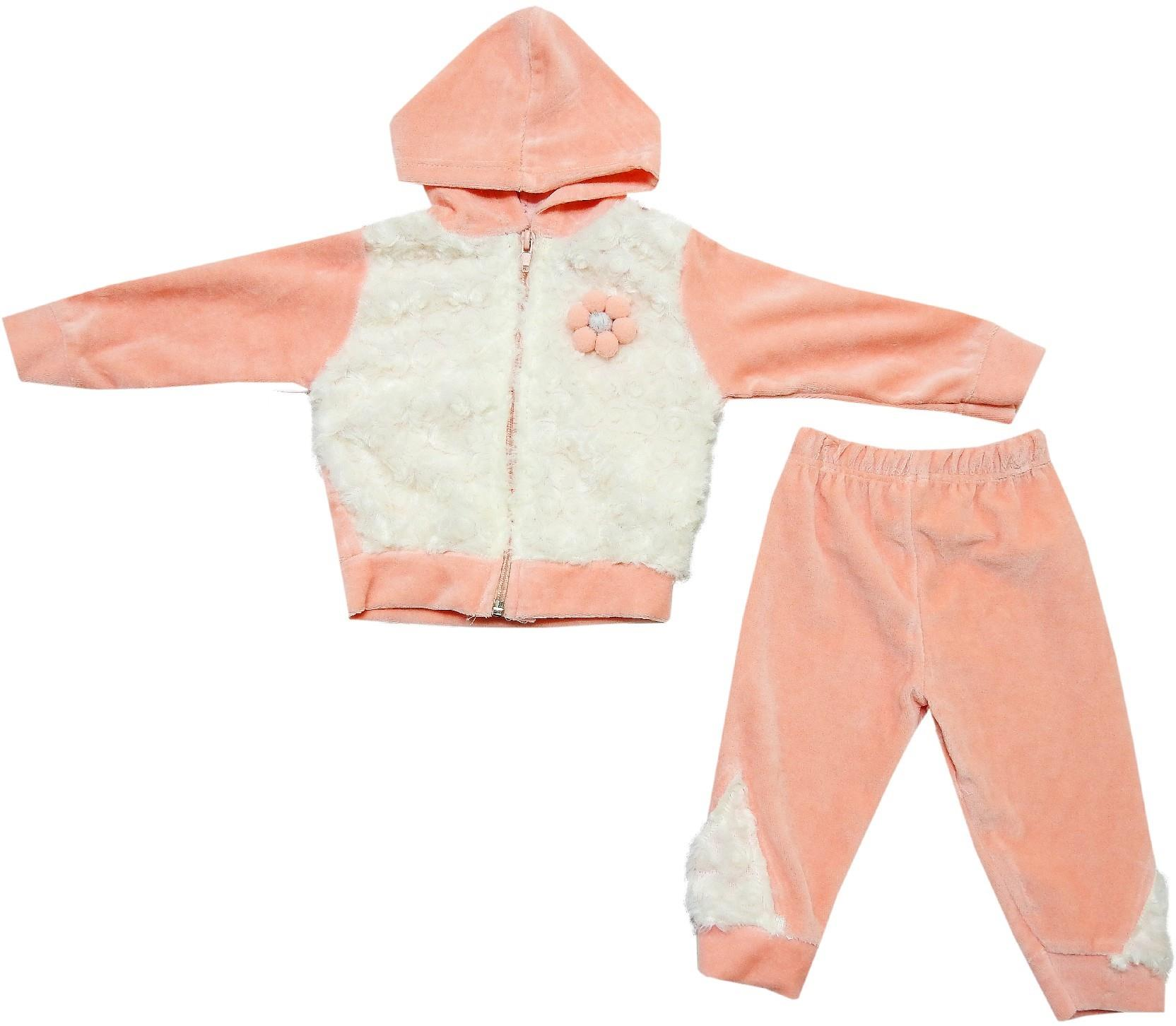 239 wholesale hooded velvet sweatshirt with trouser for baby (6-9 month)