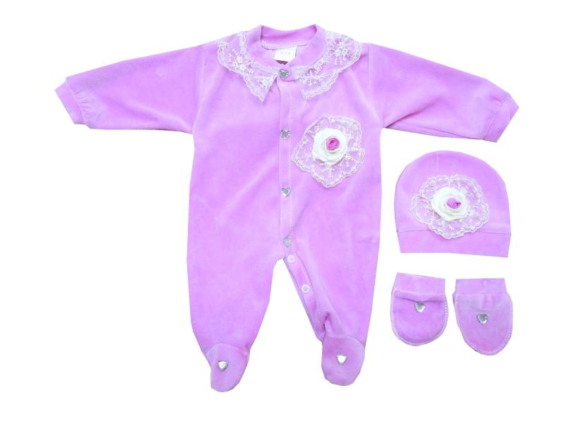 956 wholesale velvet rompers for girl (3-6-9 month)