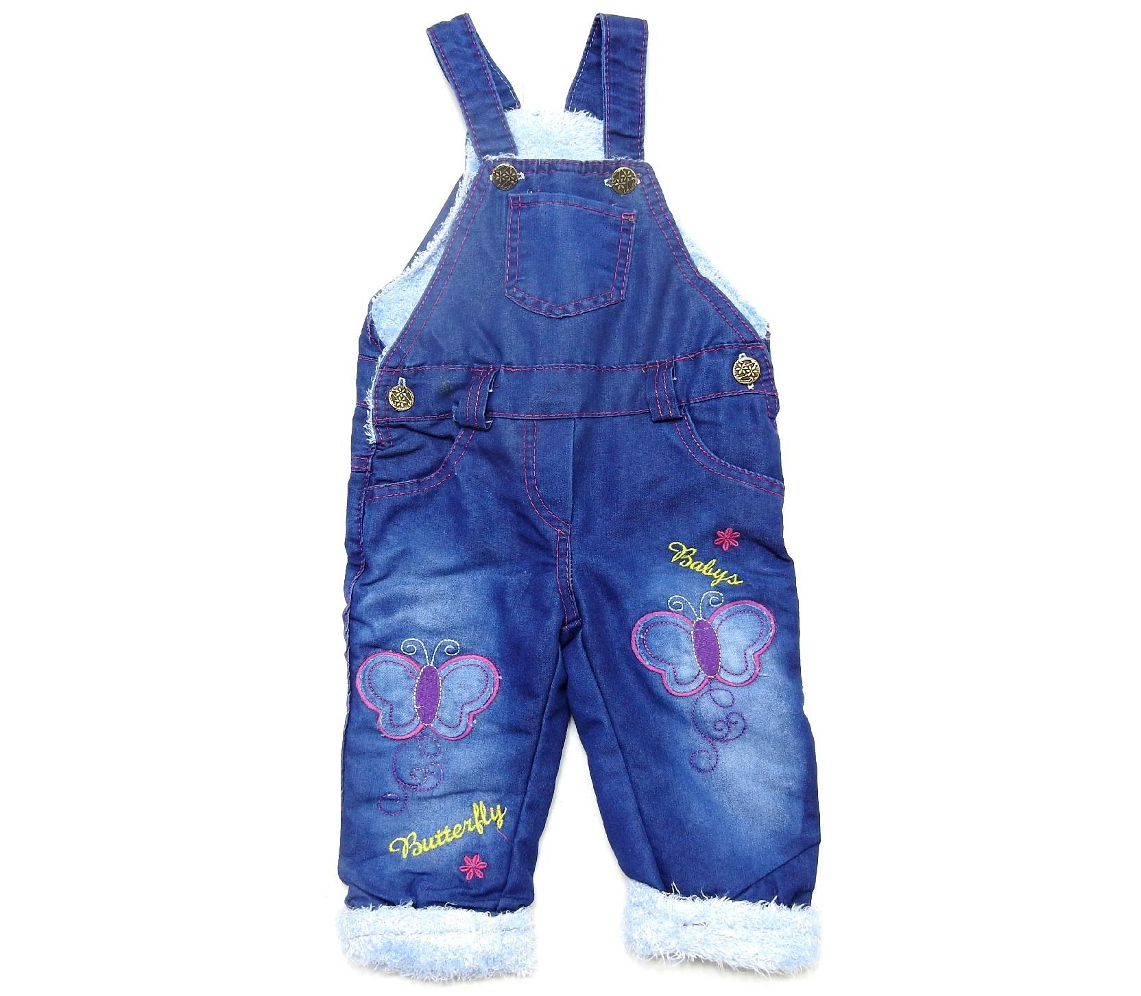 93214 wholesale patterned faux shearling suspended jeans overalls for kids (1-2-3-4 age)