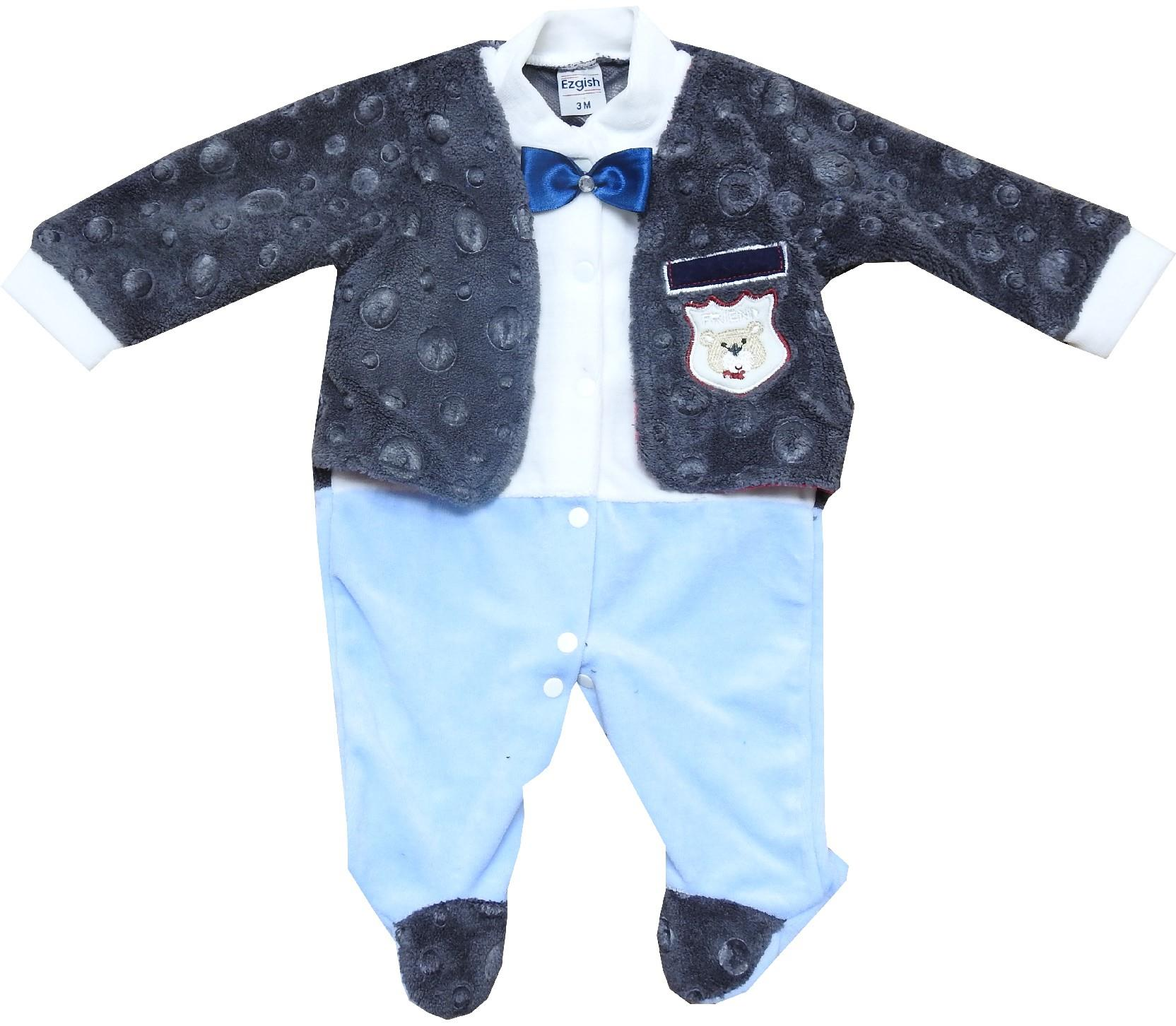214 wholesale spotty faux shearling overall for baby (3-6-9 month)
