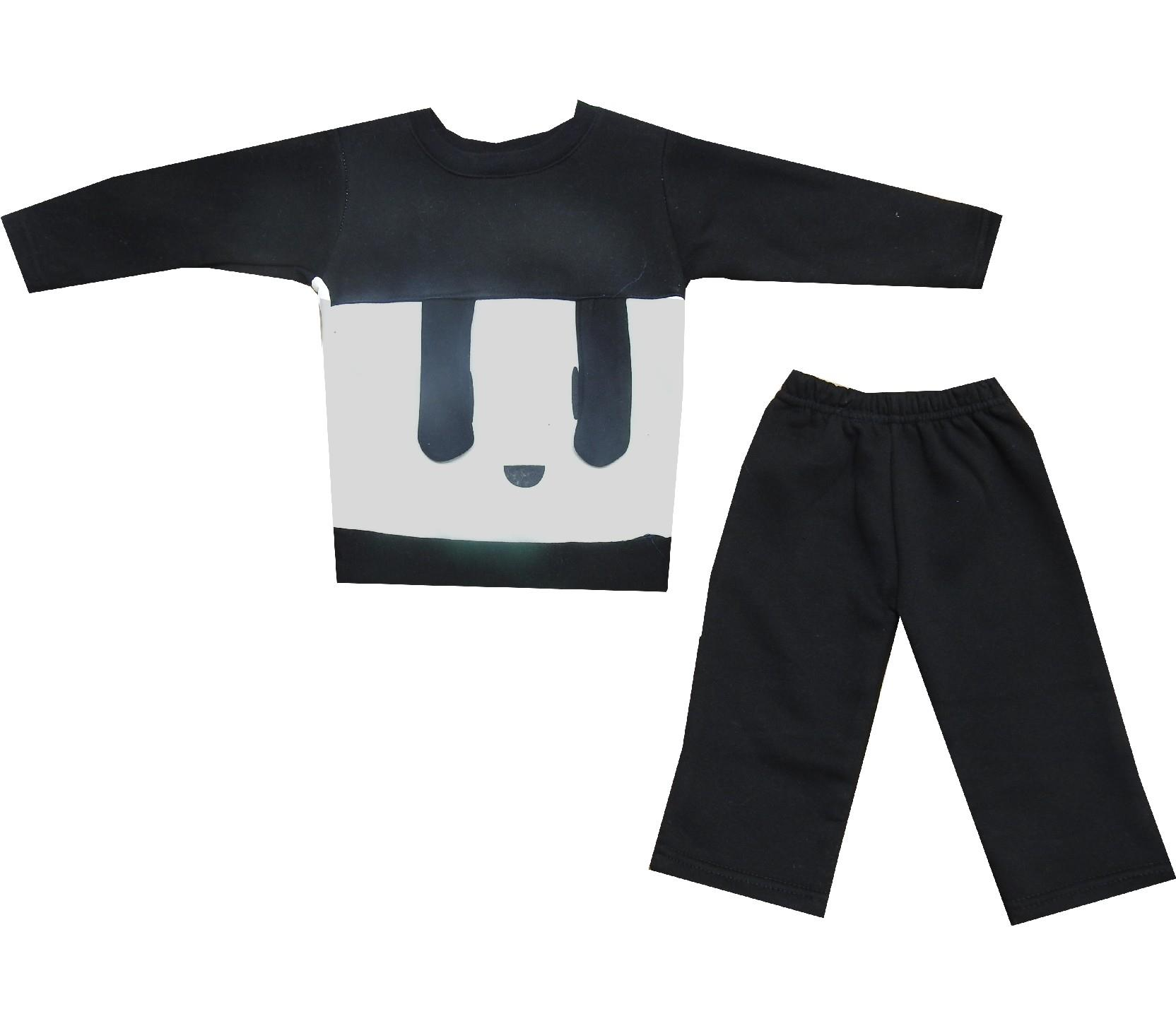 1143 wholesale face print design three-ply tracksuit for kids (1-2-3 age)