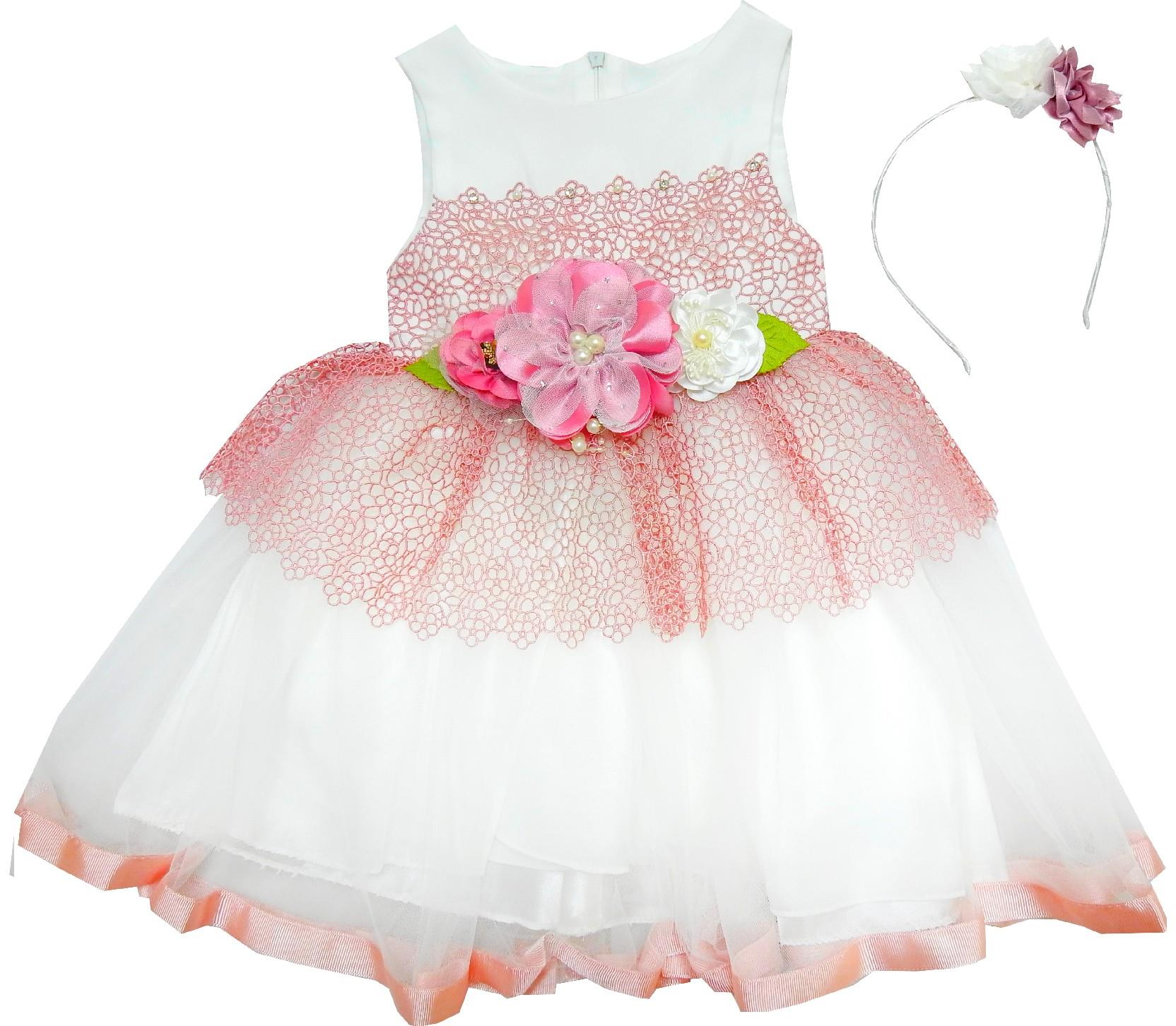 240 wholesale flower applique tulle design dress for girl (3-4-5-6 age)