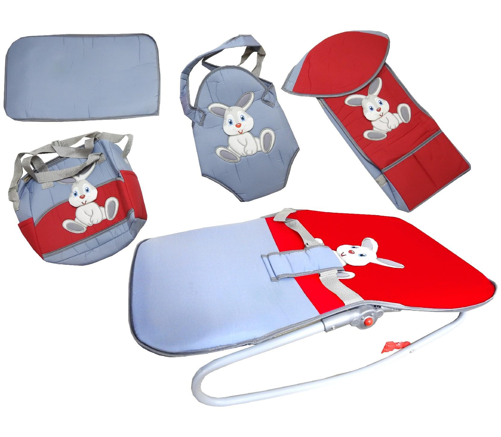 7894 Wholesale rabbit printed baby care bag gear set