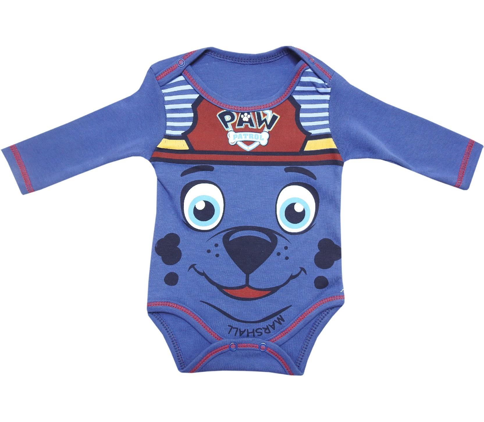 4716 Wholesale face of dog printed snap fatsening bodysuit for baby (3-6-9-12 month)