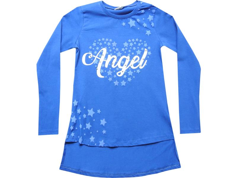5001 wholesale angel printed two ply tunic for girl kids clothes (10-11-12-13 age)