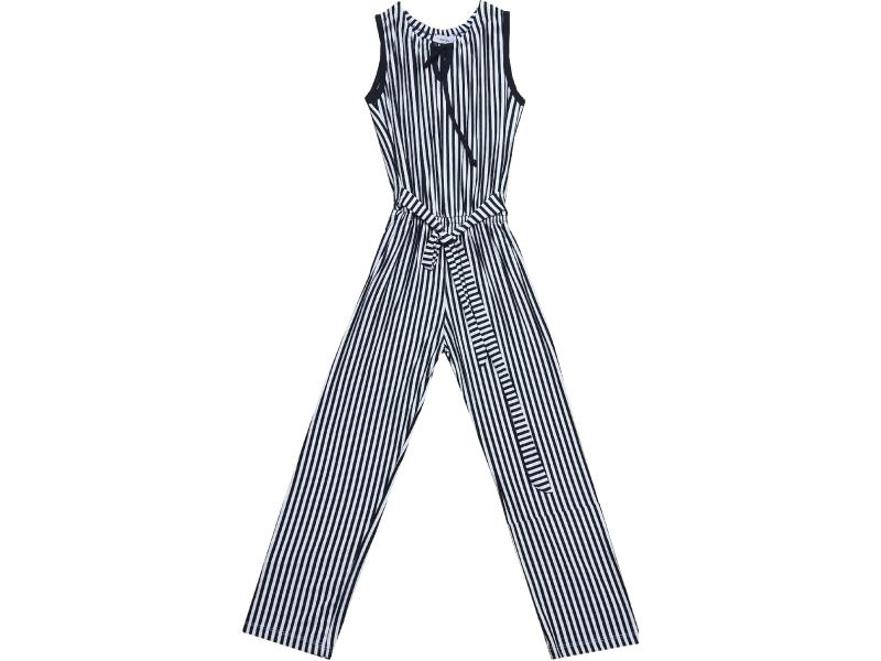 2130 Wholesale striped design overall for girl (10-12-14-16 age)