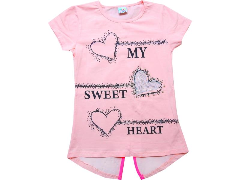 99212 Wholesale my sweet hearts printed tunics for girl kids tunic (6-7-8-9 age)
