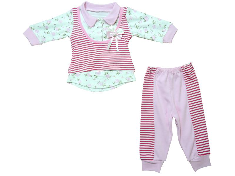 1781 wholesale striped design sweat and trouser for baby girl (6-9-12 month)