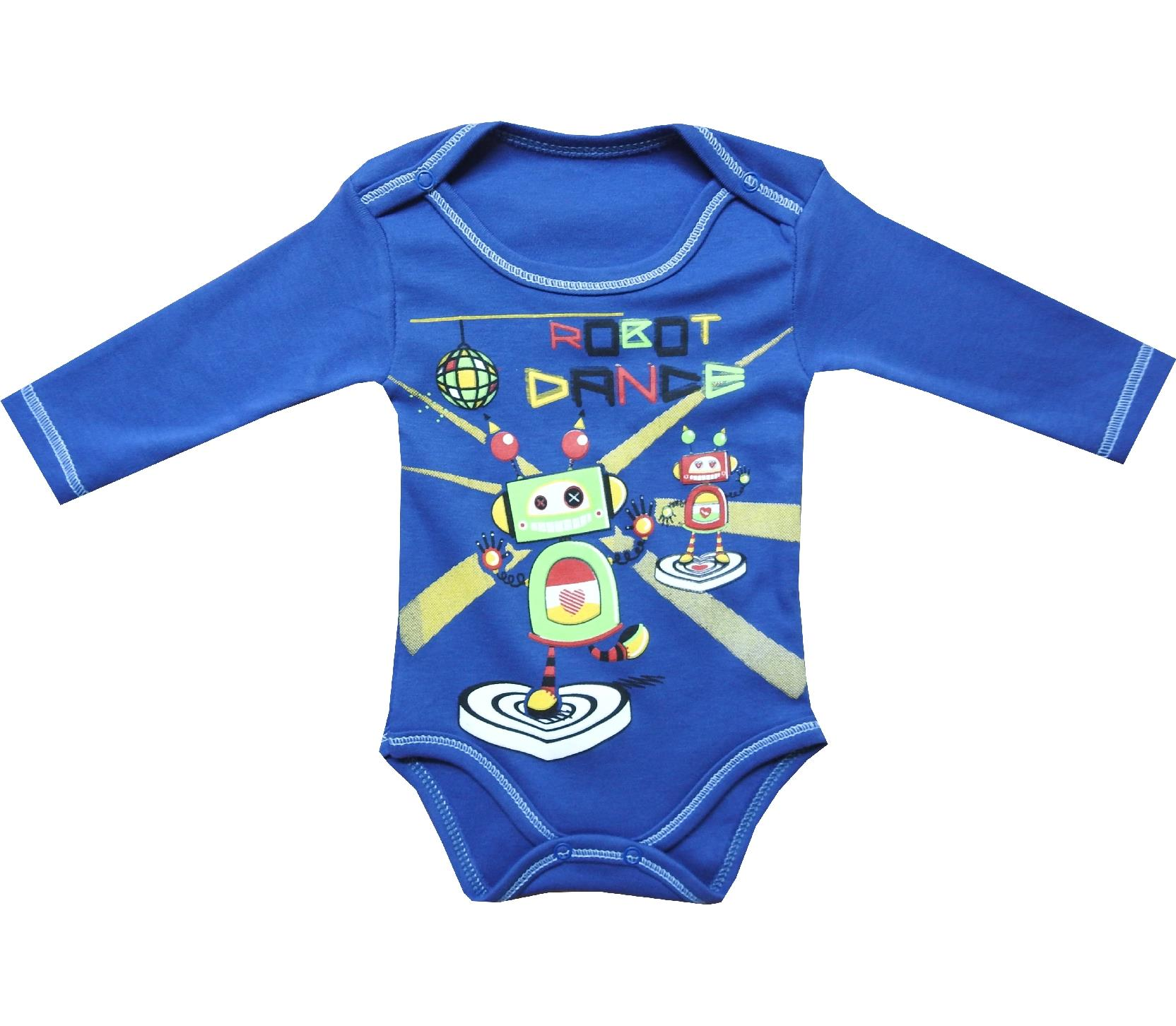 4630 Wholesale robots printed bodysuit for boy baby clothes 3 6 9