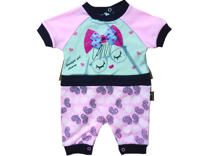 102 Wholesale sleeping girl printed tulle design romper for girl (3-6-9 month)