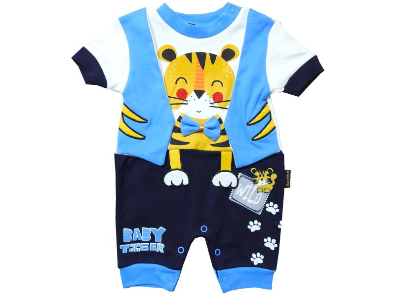 103 Wholesale tiger printed romper for baby clothes (3-6-9 month)