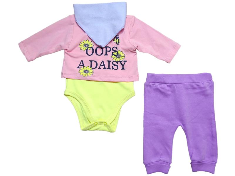 1714 Wholesale letter printed body with trouser for baby clothes (3-6-9 month)
