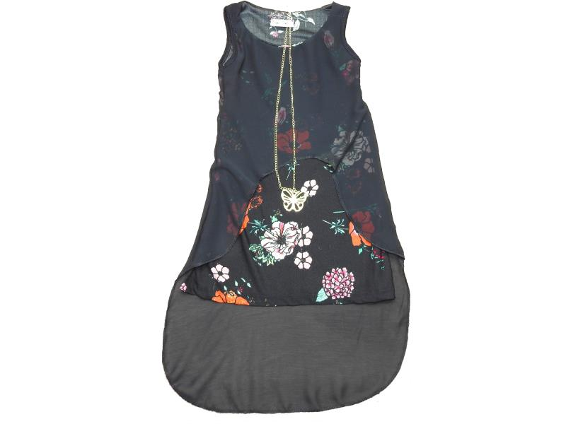 5060 Wholesale flower embroidered dress for girl kids clothes (4-6-8-10 age)